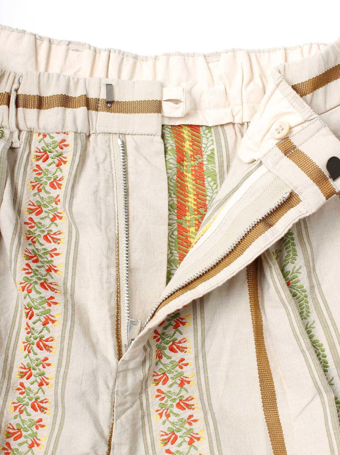 WH Hakeme Flower Jacquard Pants-8