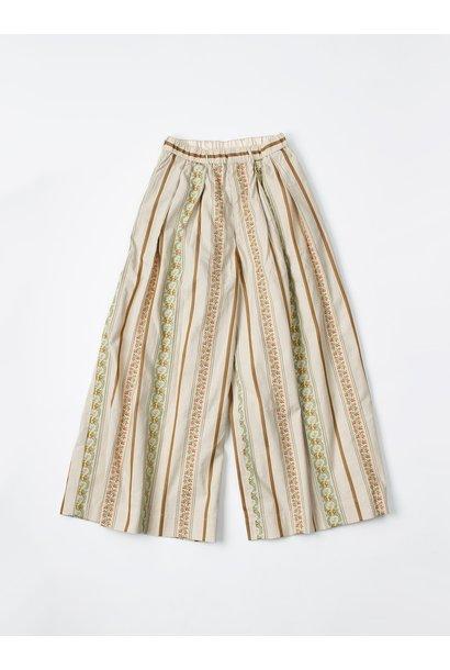 WH Hakeme Flower Jacquard Pants