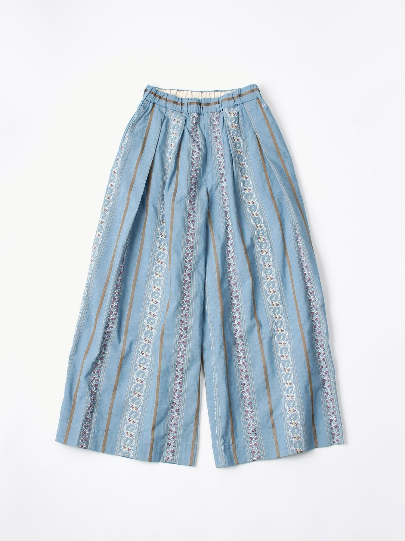 WH Hakeme Flower Jacquard Pants-6