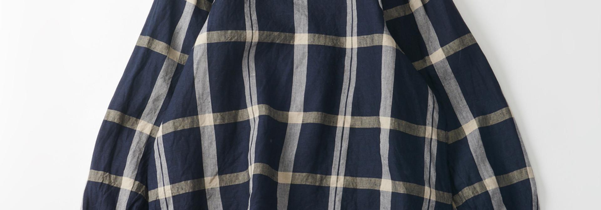 WH Linen 4545 Check Blouse