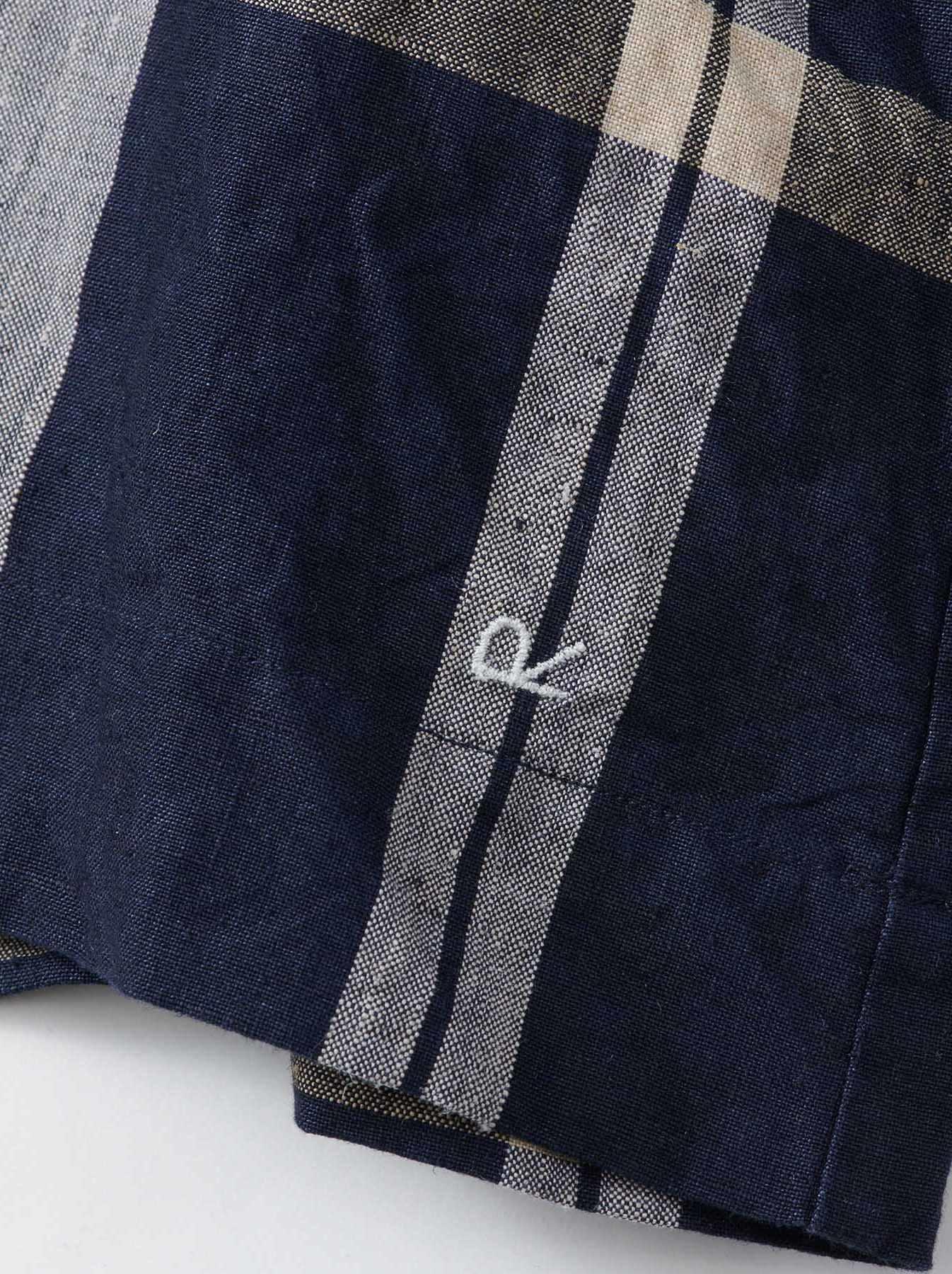 WH Linen 4545 Check Blouse-10