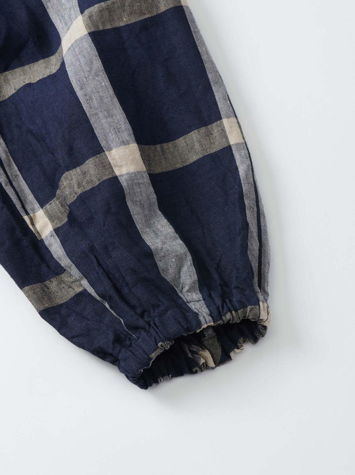 WH Linen 4545 Check Blouse-11