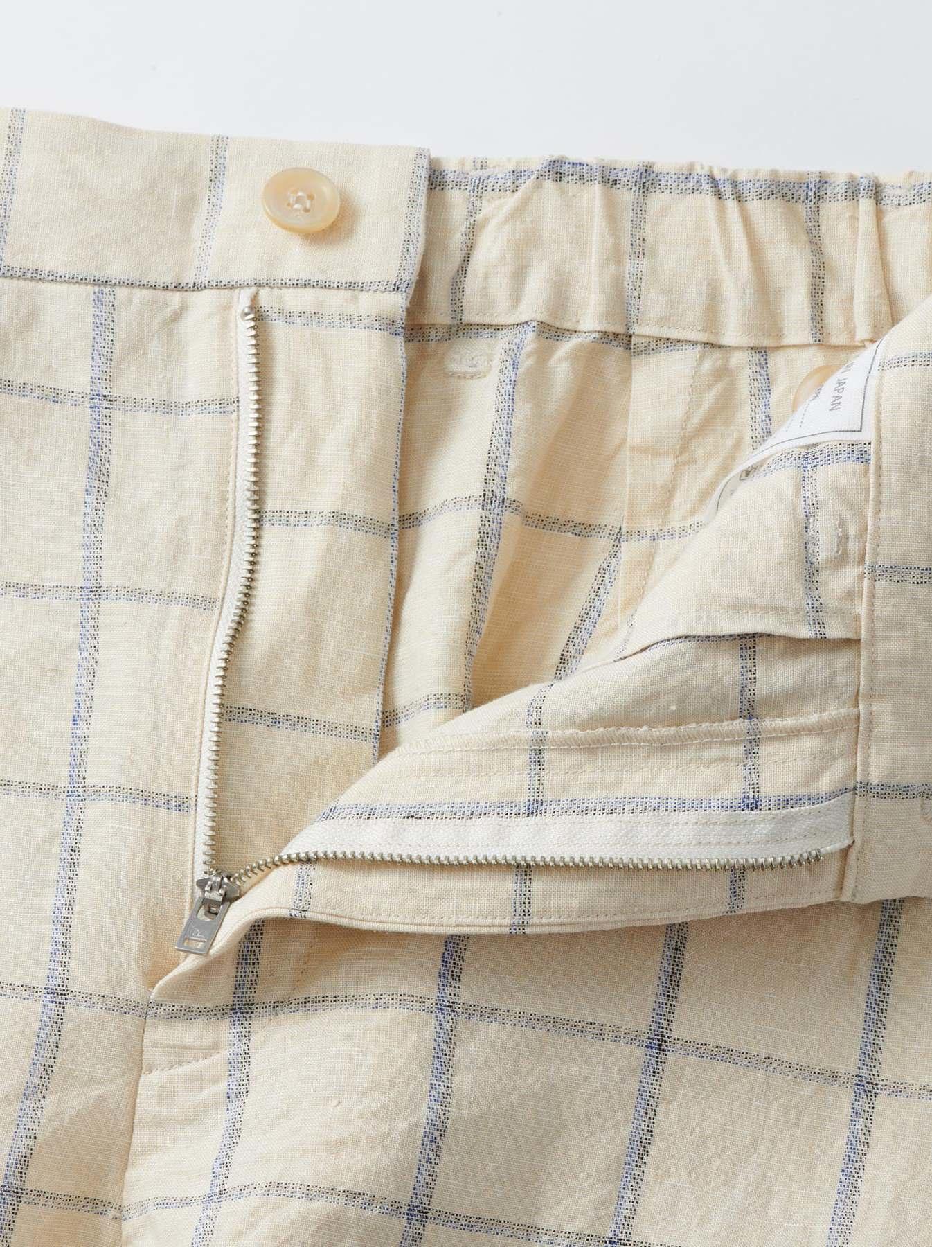 WH Linen 4545 Check Pants-9