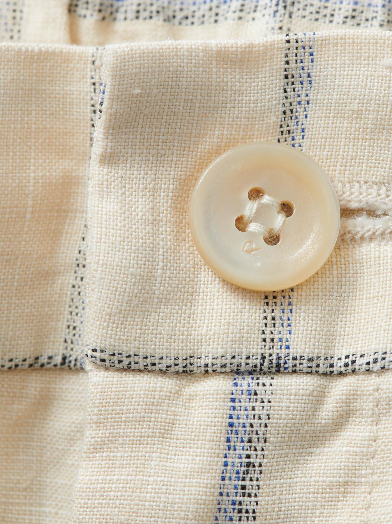 WH Linen 4545 Check Pants-10