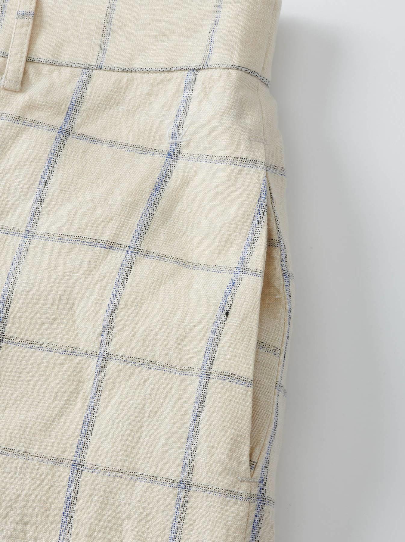 WH Linen 4545 Check Pants-11