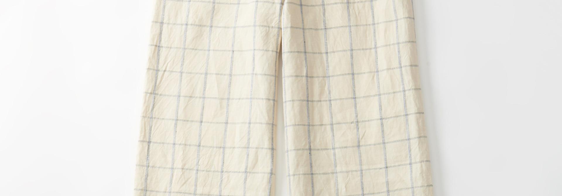 WH Linen 4545 Check Pants