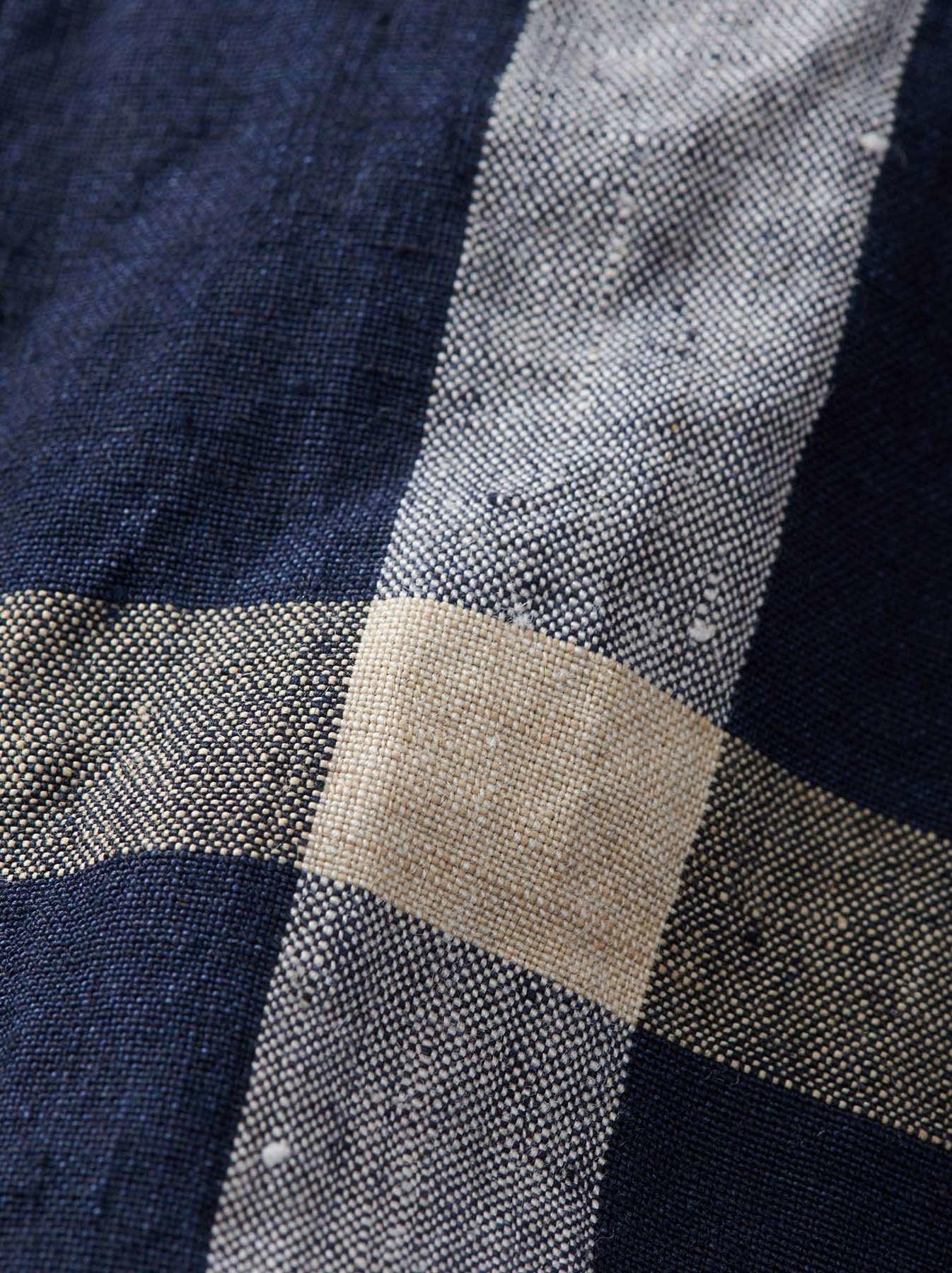 WH Linen 4545 Check Pants-12
