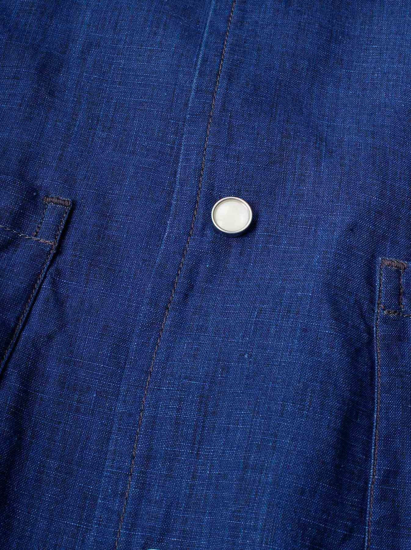 WH Indigo Linen Jean Jacket Bolero-7