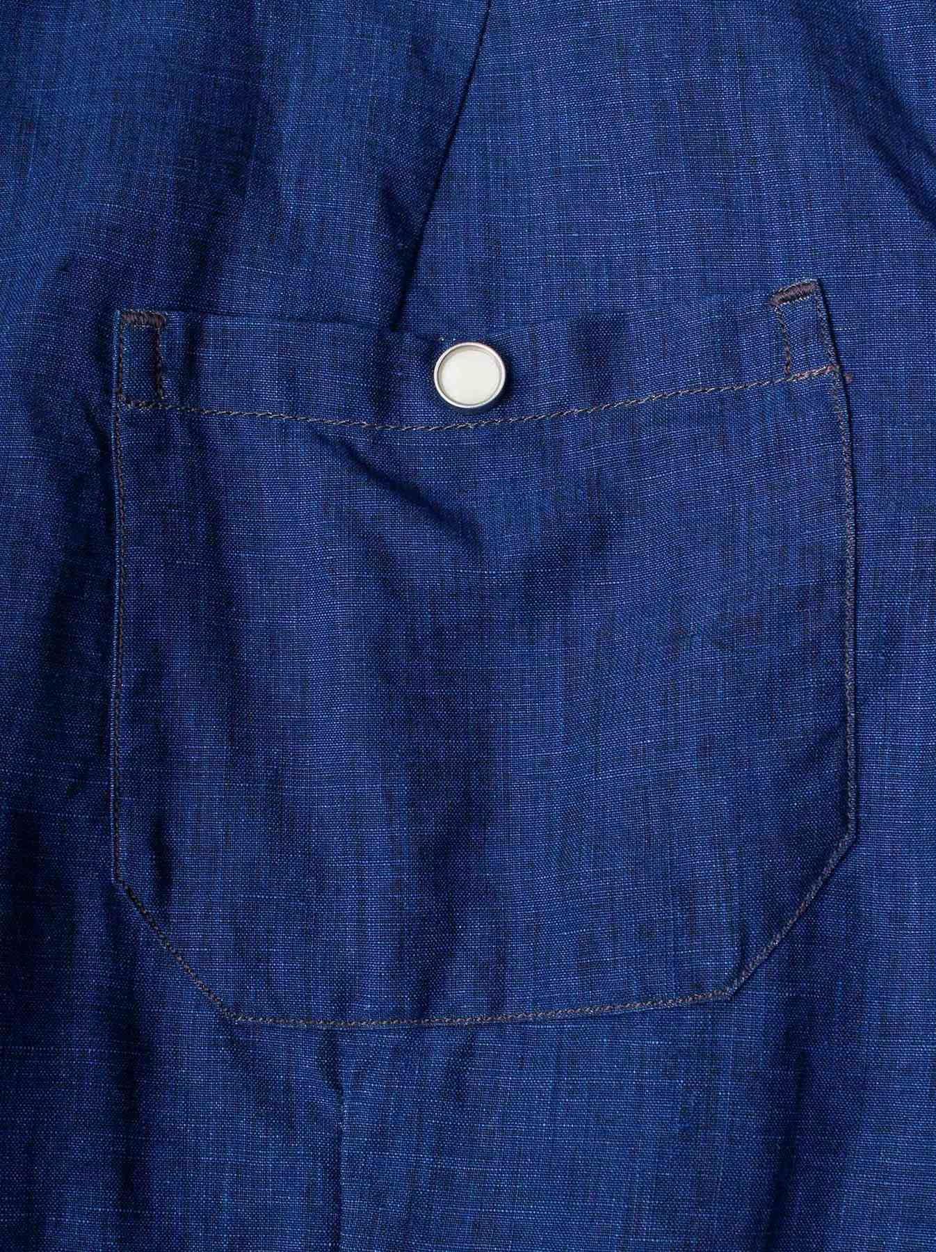 WH Indigo Linen Jean Jacket Bolero-8