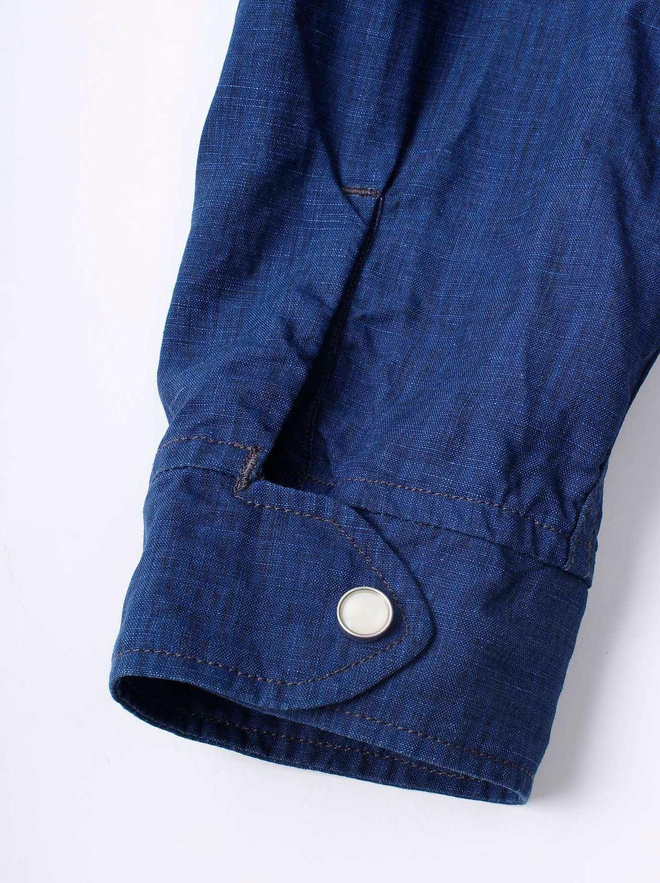 WH Indigo Linen Jean Jacket Bolero-9