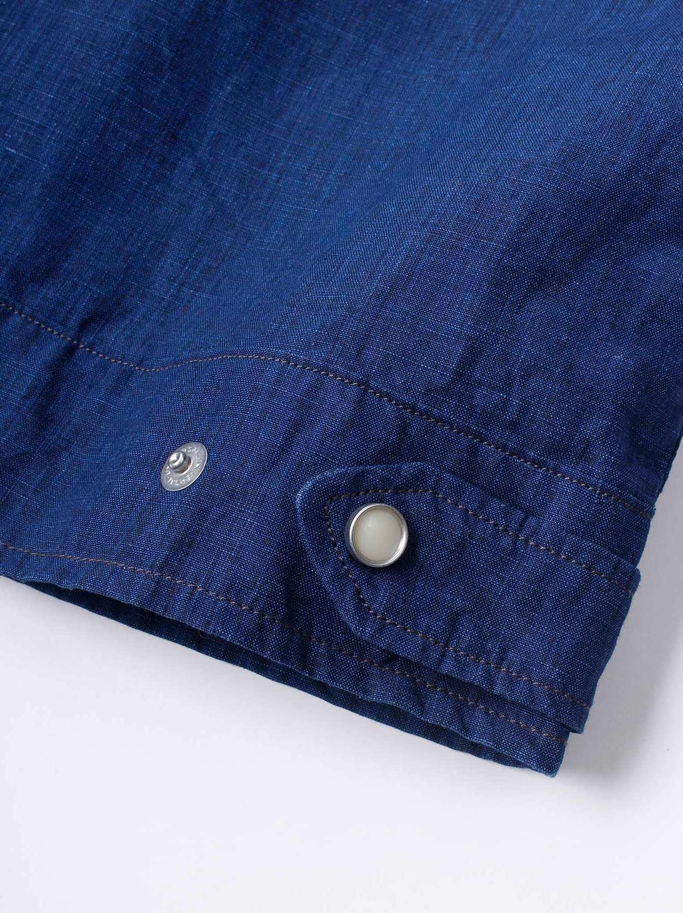 WH Indigo Linen Jean Jacket Bolero-10