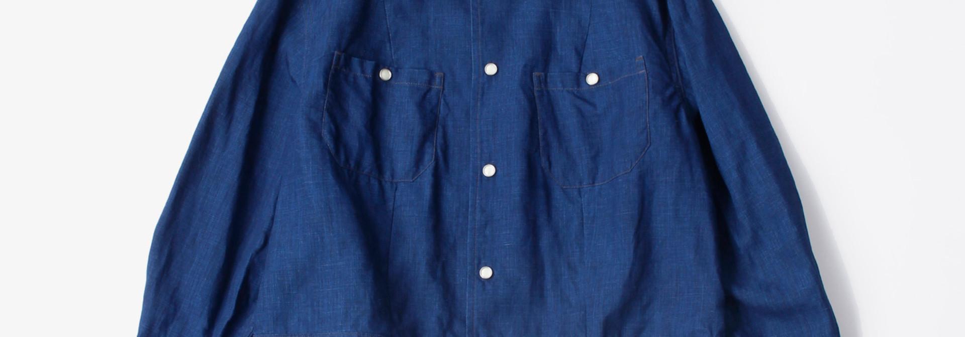 WH Indigo Linen Jean Jacket Bolero