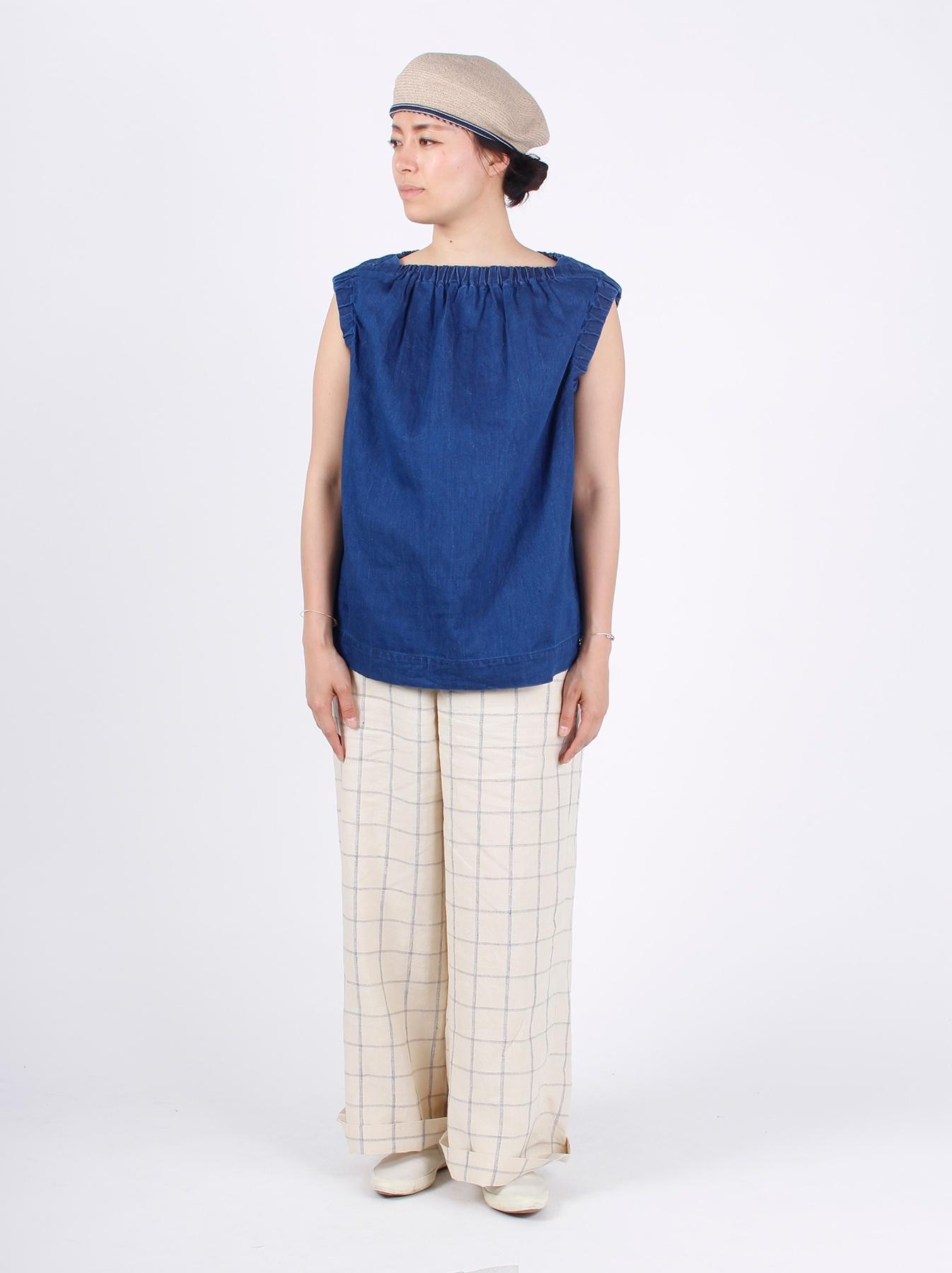 WH Cotton-linen Denim Camisole-3