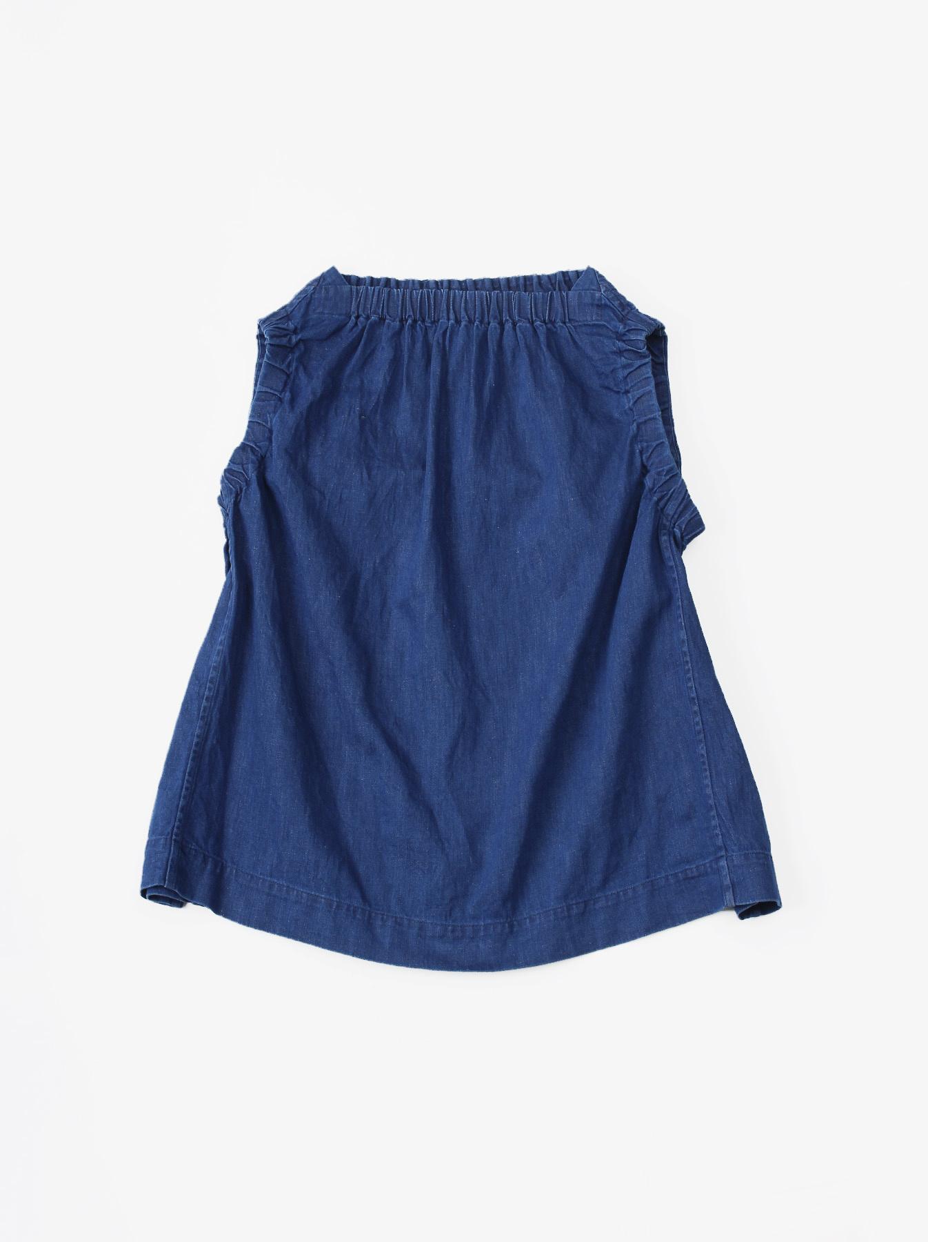 WH Cotton-linen Denim Camisole-1