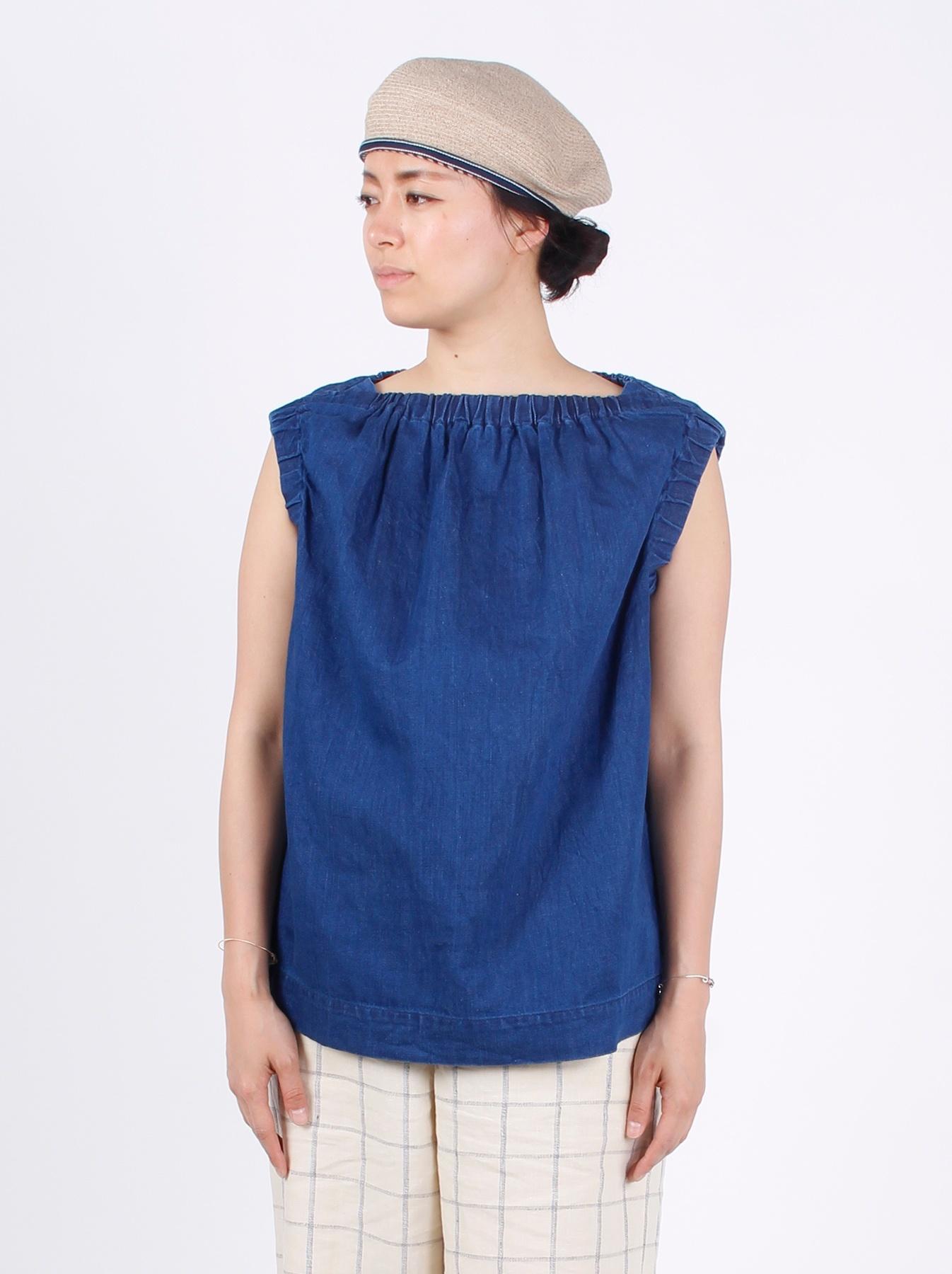WH Cotton-linen Denim Camisole-4
