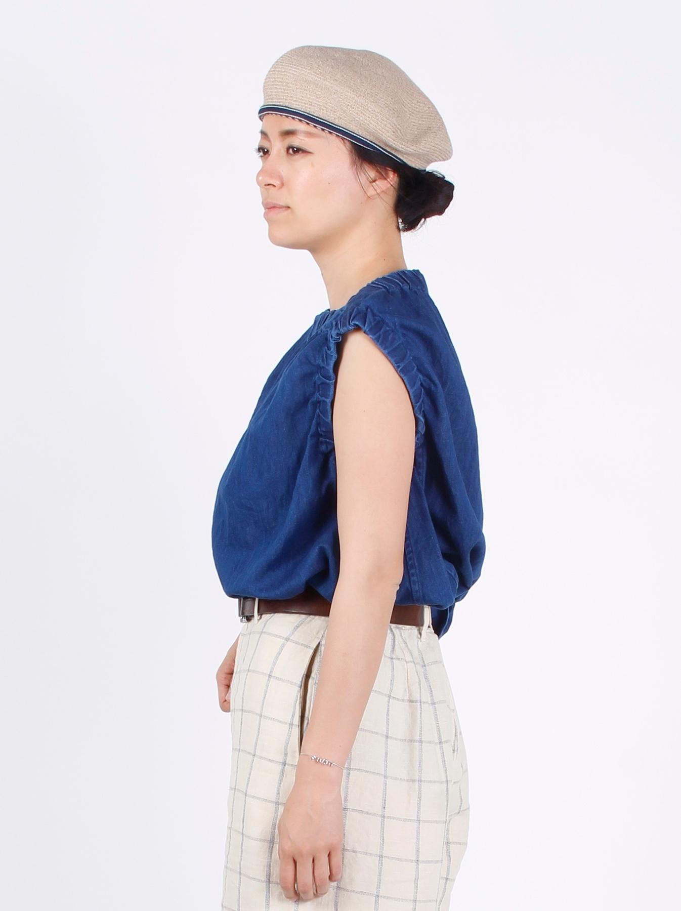 WH Cotton-linen Denim Camisole-5
