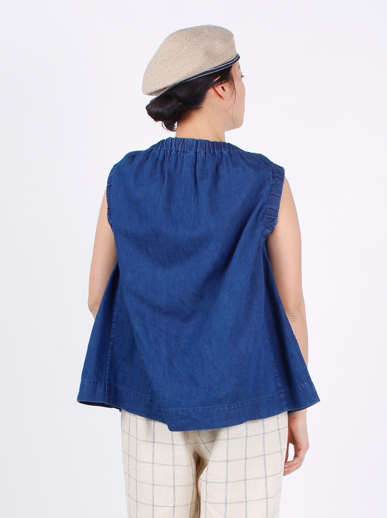 WH Cotton-linen Denim Camisole-6