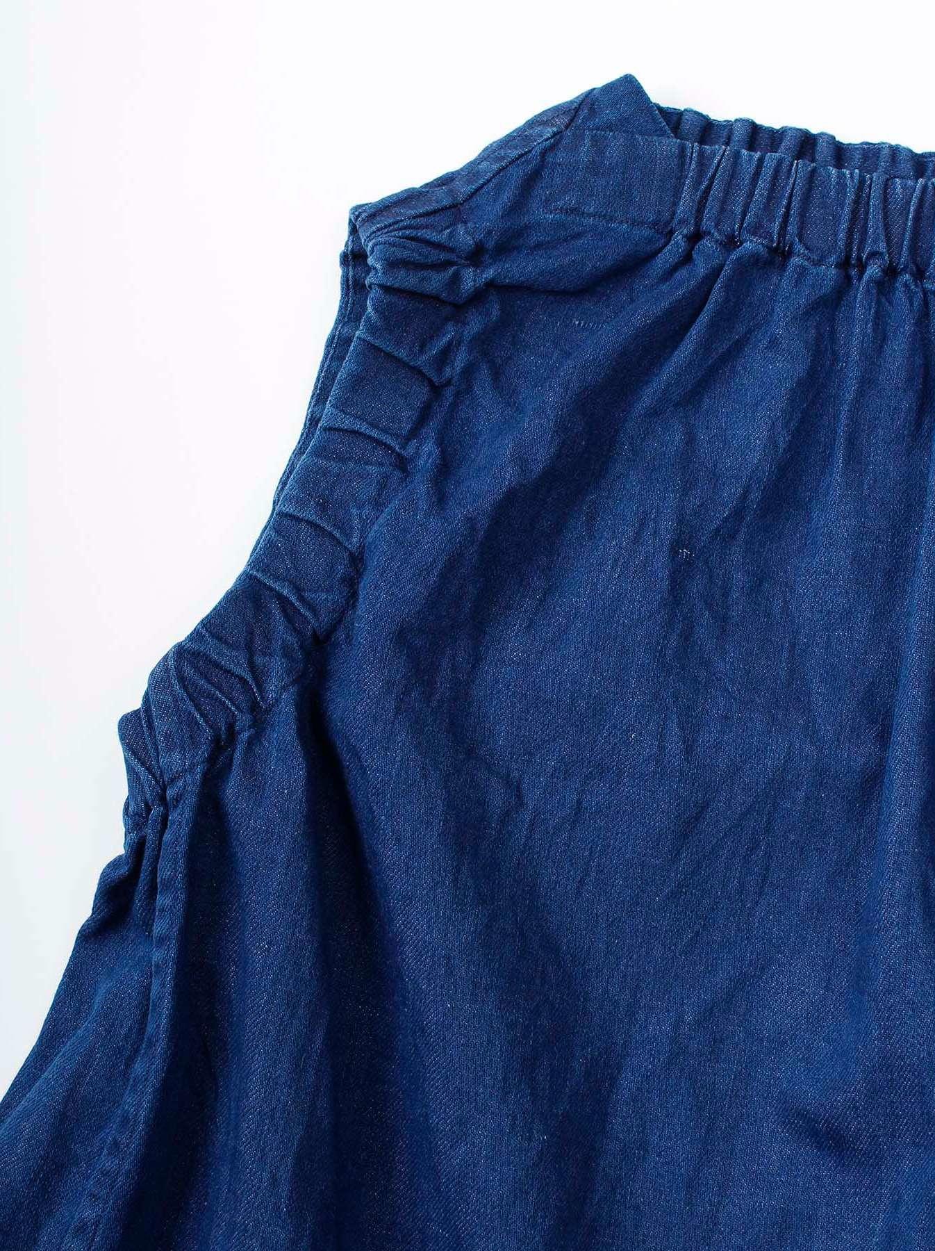 WH Cotton-linen Denim Camisole-8