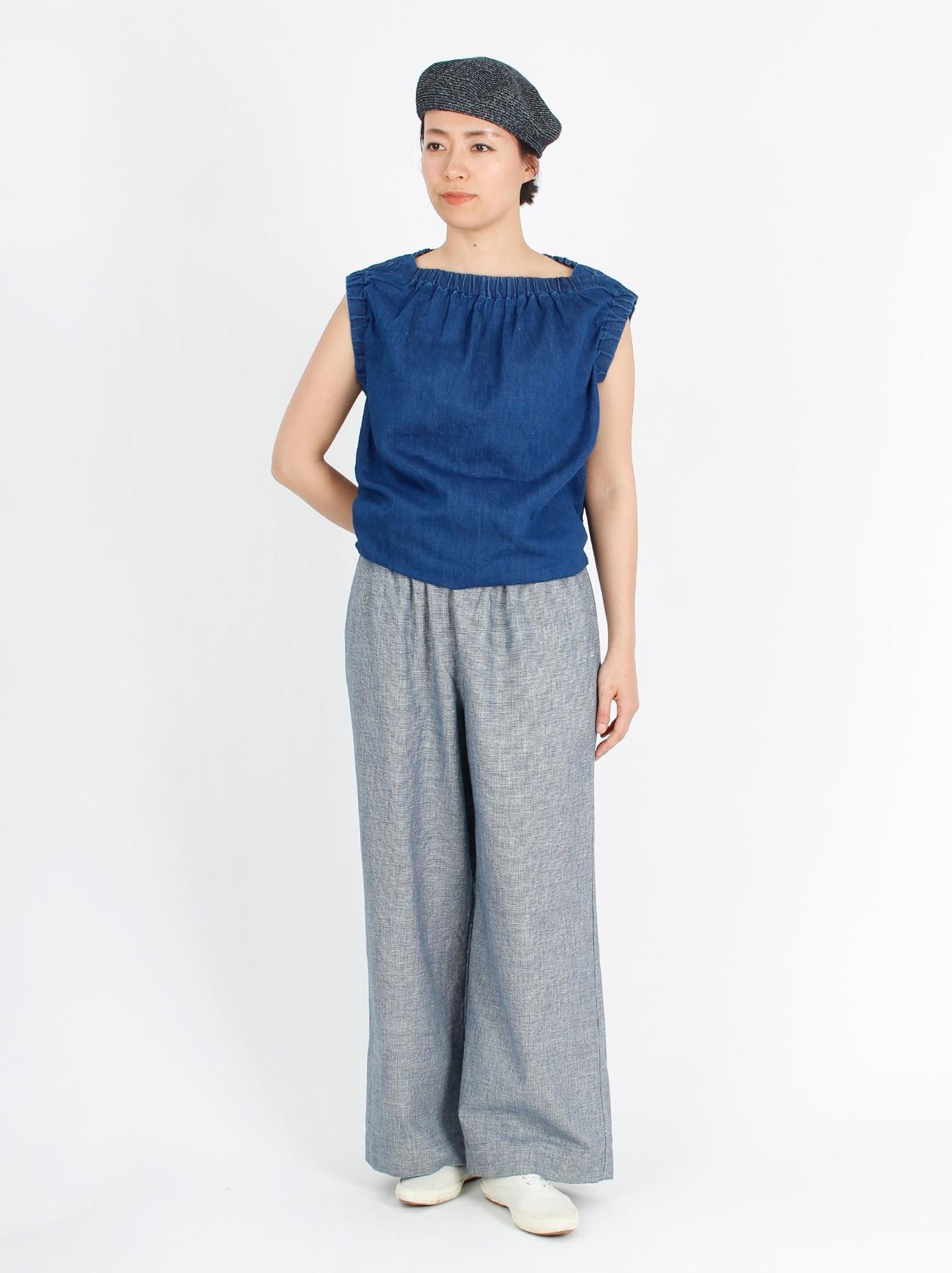 WH Cotton-linen Denim Camisole-2