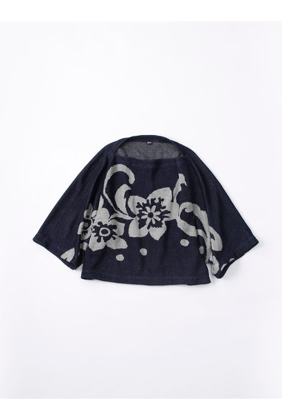 WH Indigo Linen Jacquard Yakko T-shirt