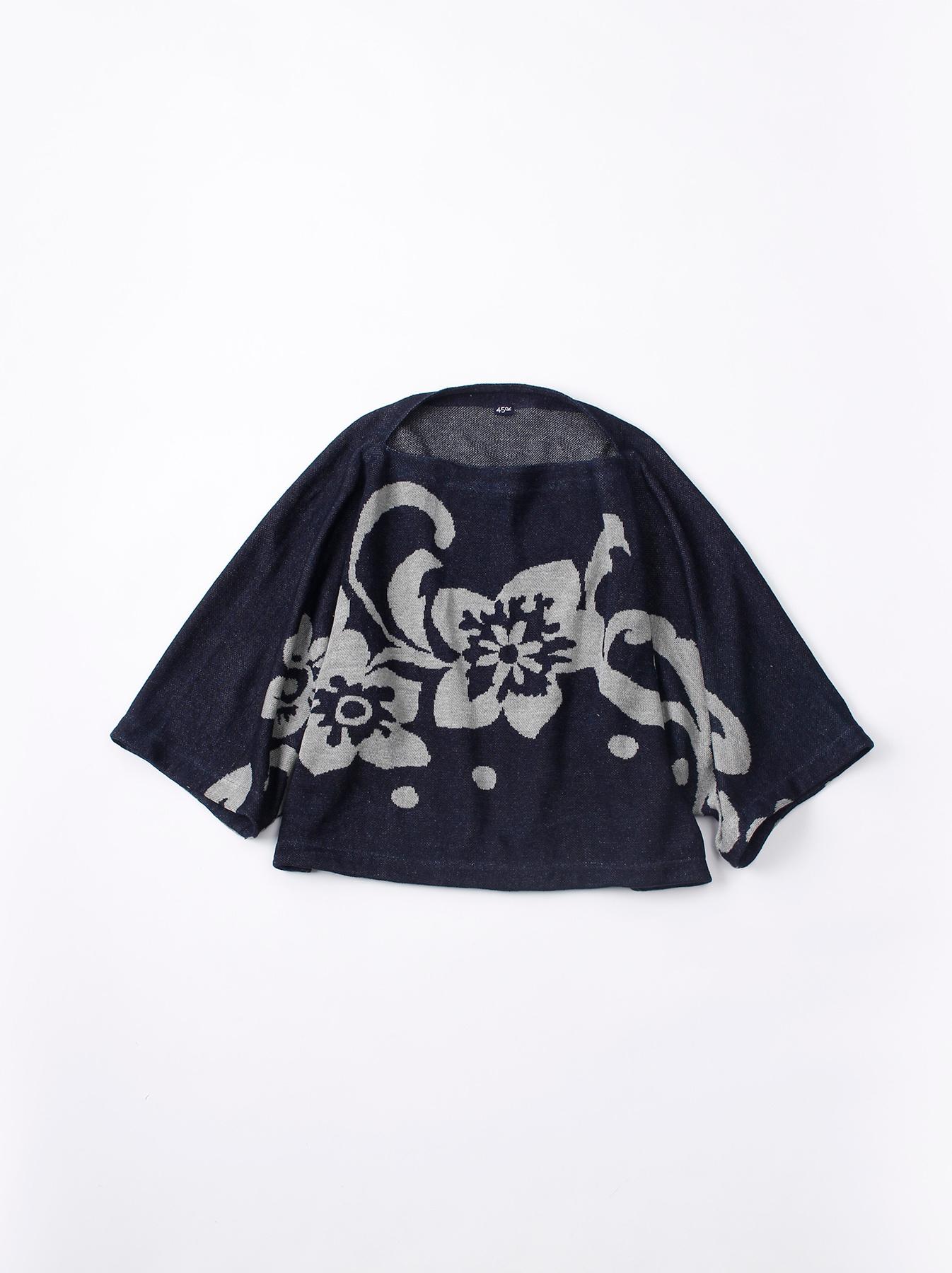 WH Indigo Linen Jacquard Yakko T-shirt-1