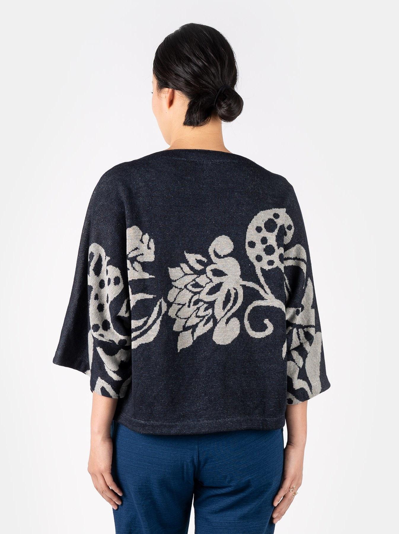 WH Indigo Linen Jacquard Yakko T-shirt-5