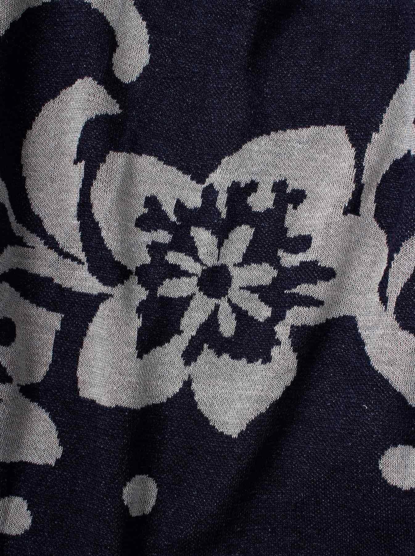 WH Indigo Linen Jacquard Yakko T-shirt-7
