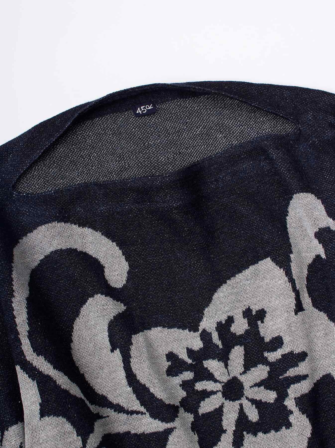 WH Indigo Linen Jacquard Yakko T-shirt-8