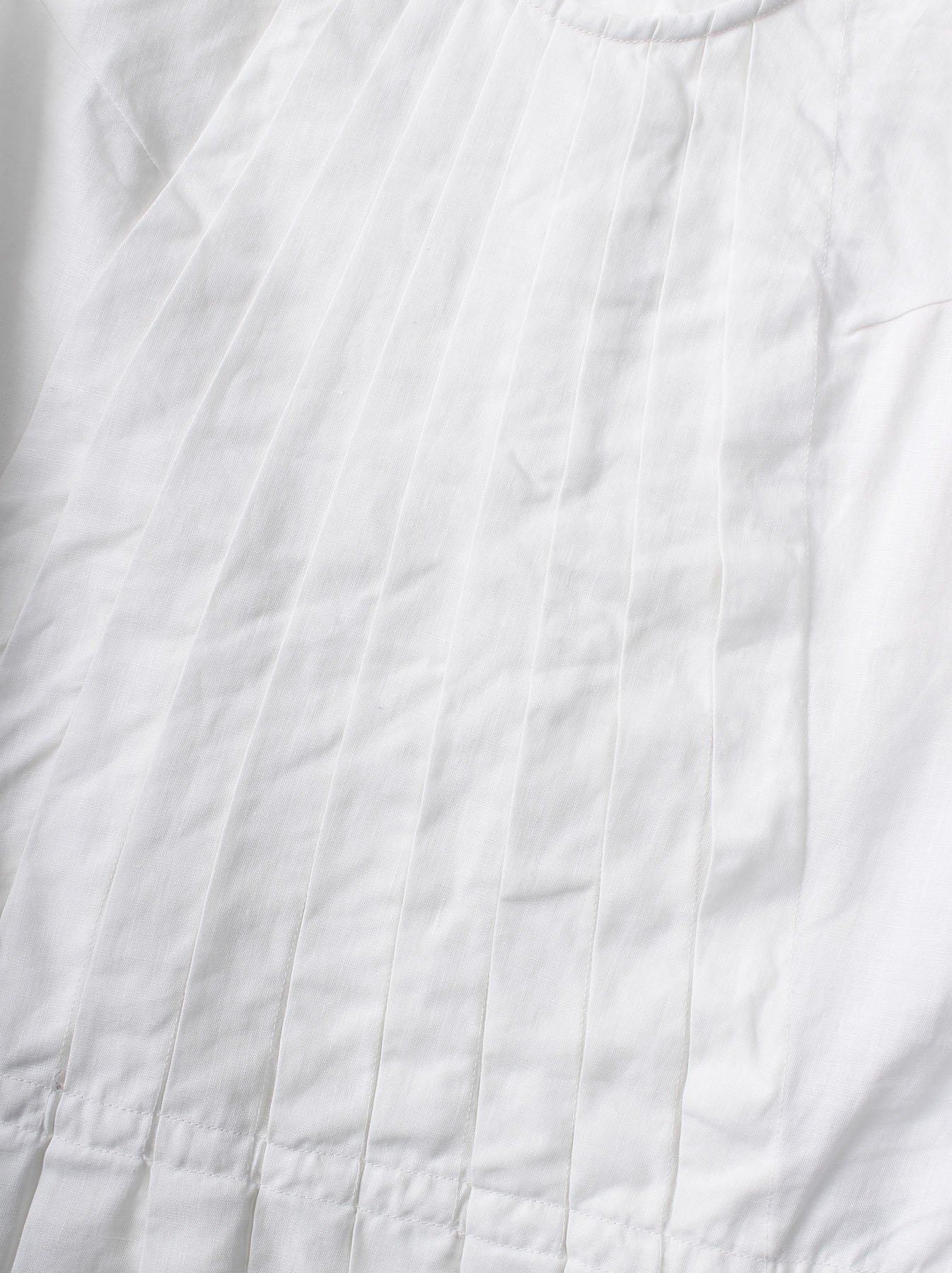 WH Linen Sleeveless Tuck Blouse-6