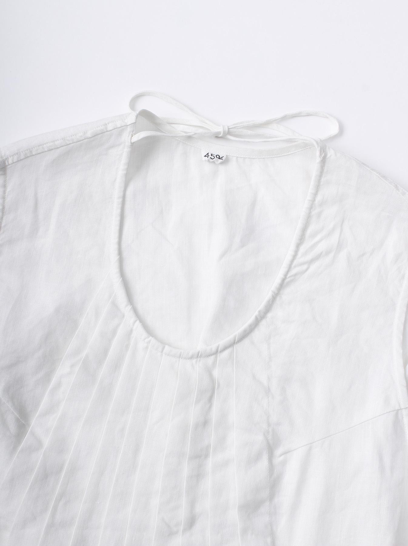 WH Linen Sleeveless Tuck Blouse-8