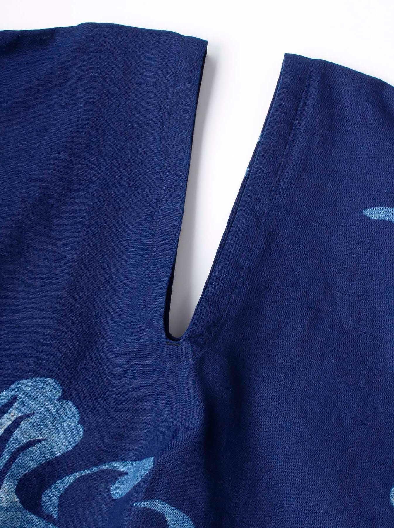 WH Indigo W-cloth Umiiloha Blouse-5