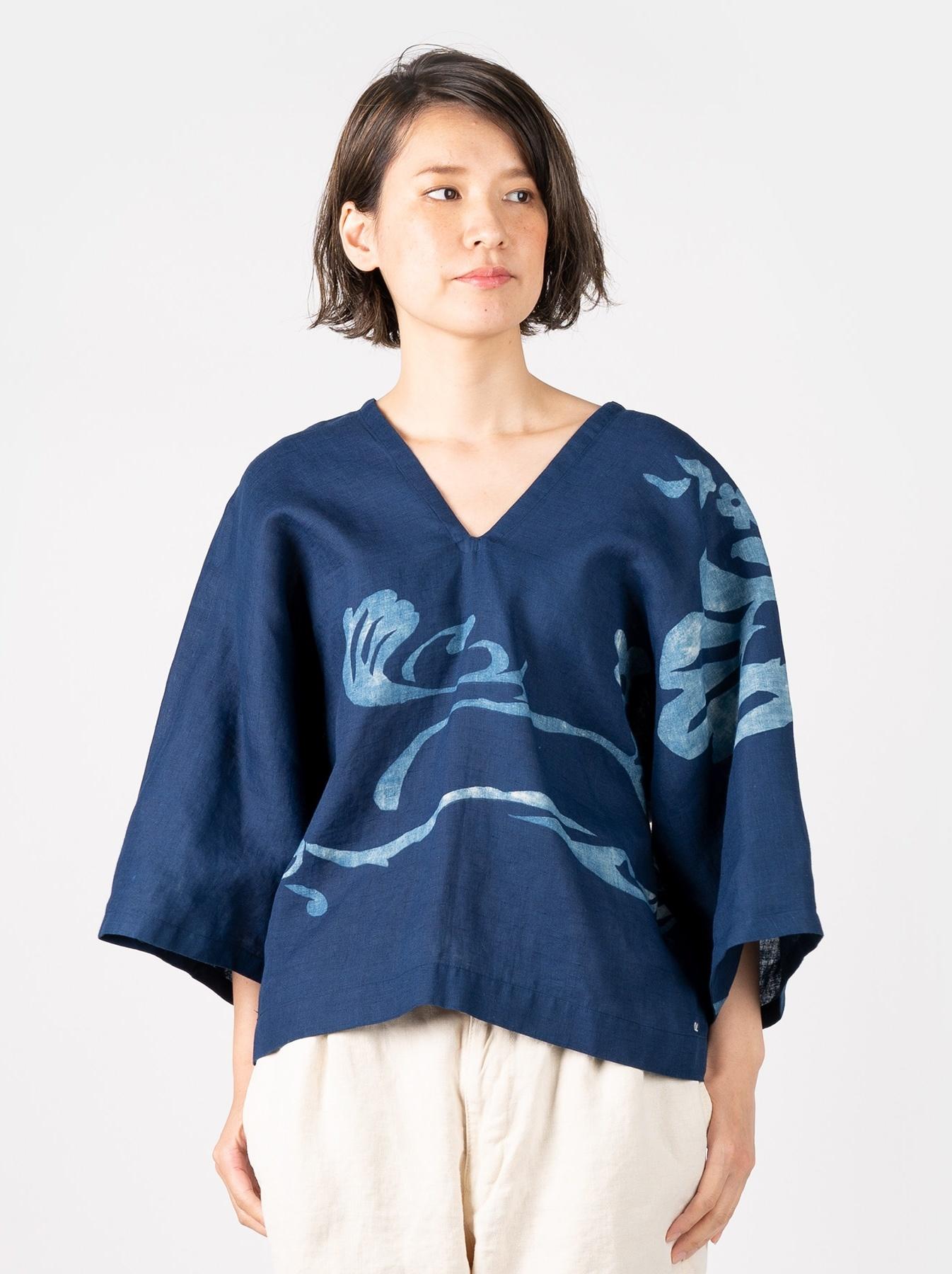 WH Indigo W-cloth Umiiloha Blouse-1