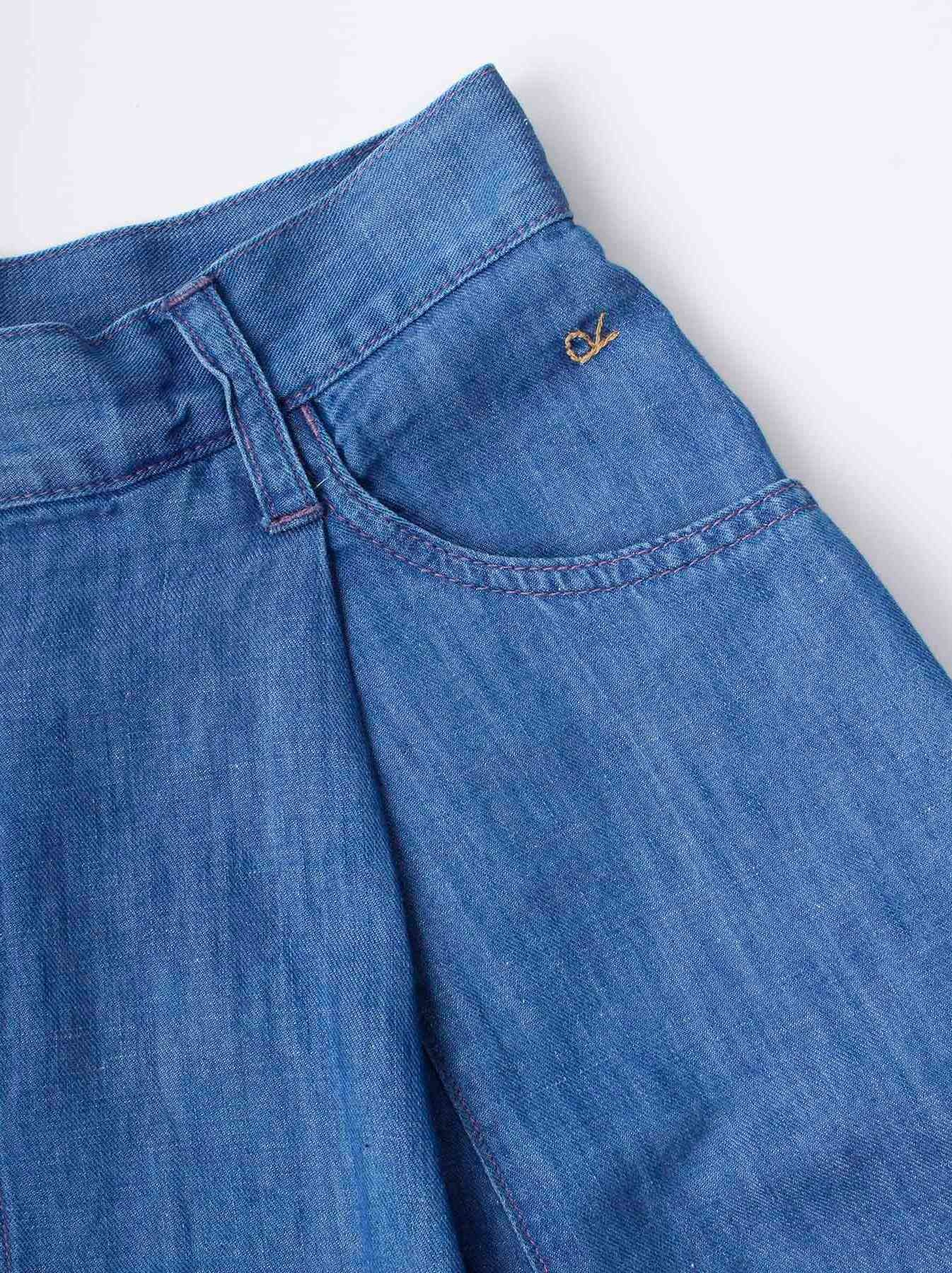 WH Cotton Linen Mon-petit Skirt-6