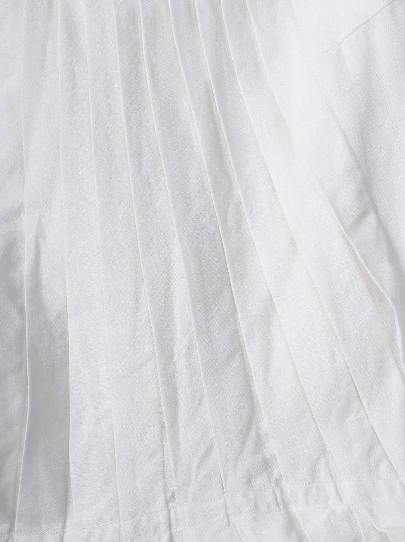 WH Linen Sleeveless Tuck Dress-6