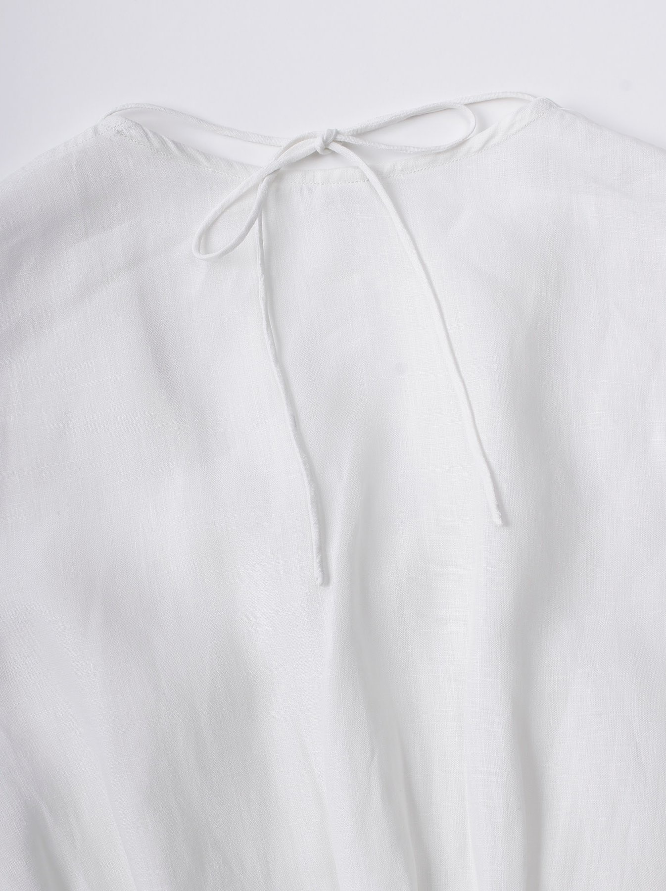 WH Linen Sleeveless Tuck Dress-7
