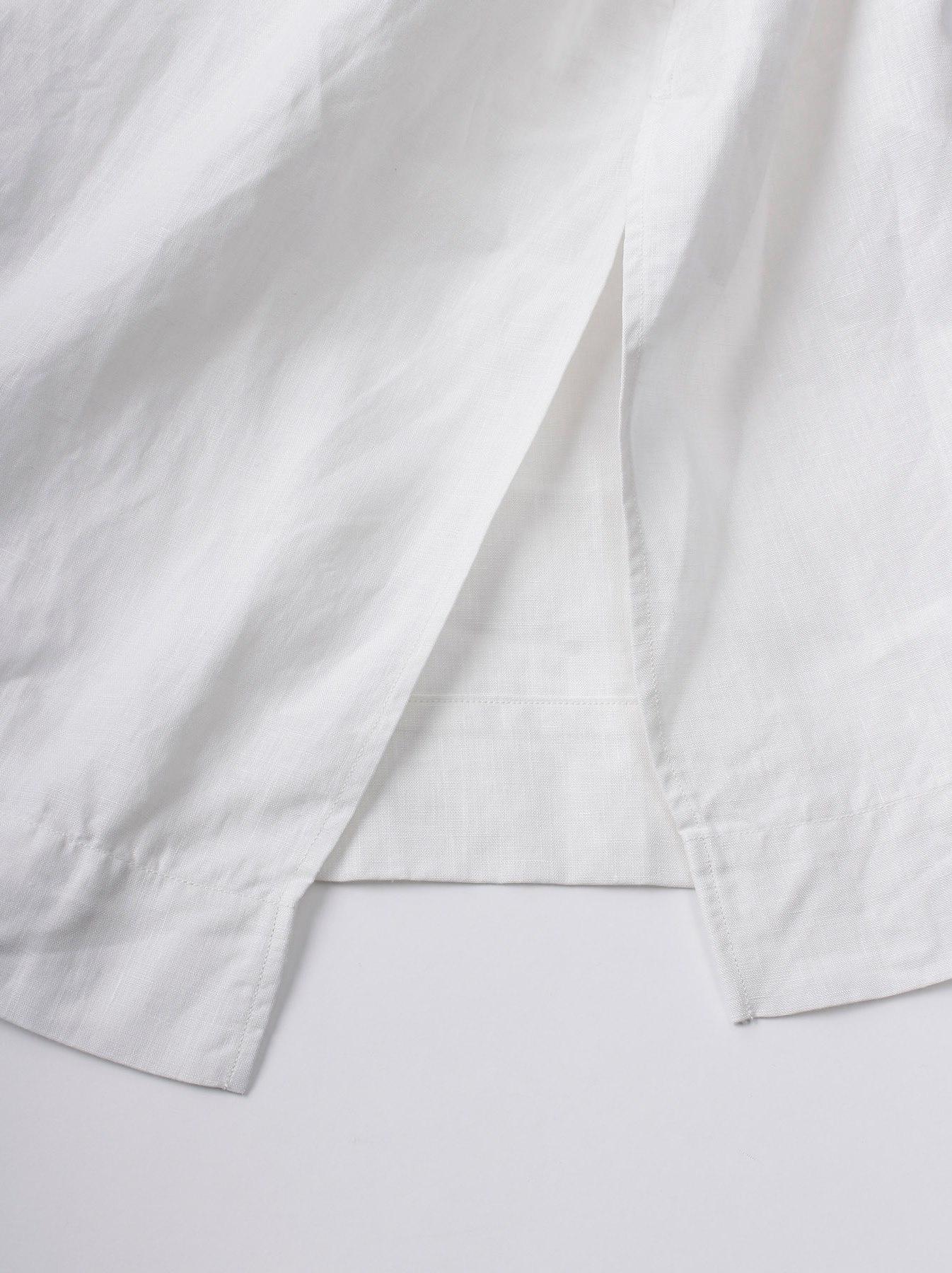 WH Linen Sleeveless Tuck Dress-10