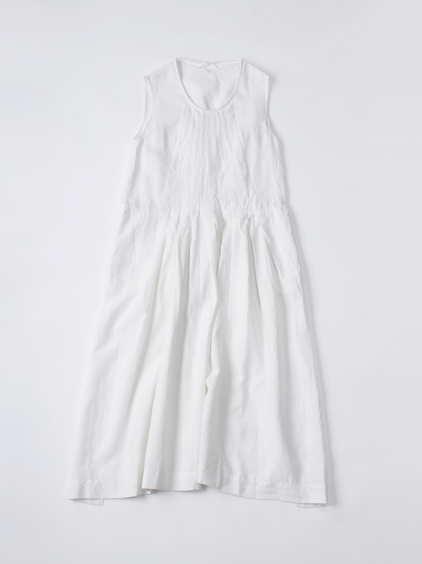 WH Linen Sleeveless Tuck Dress-1