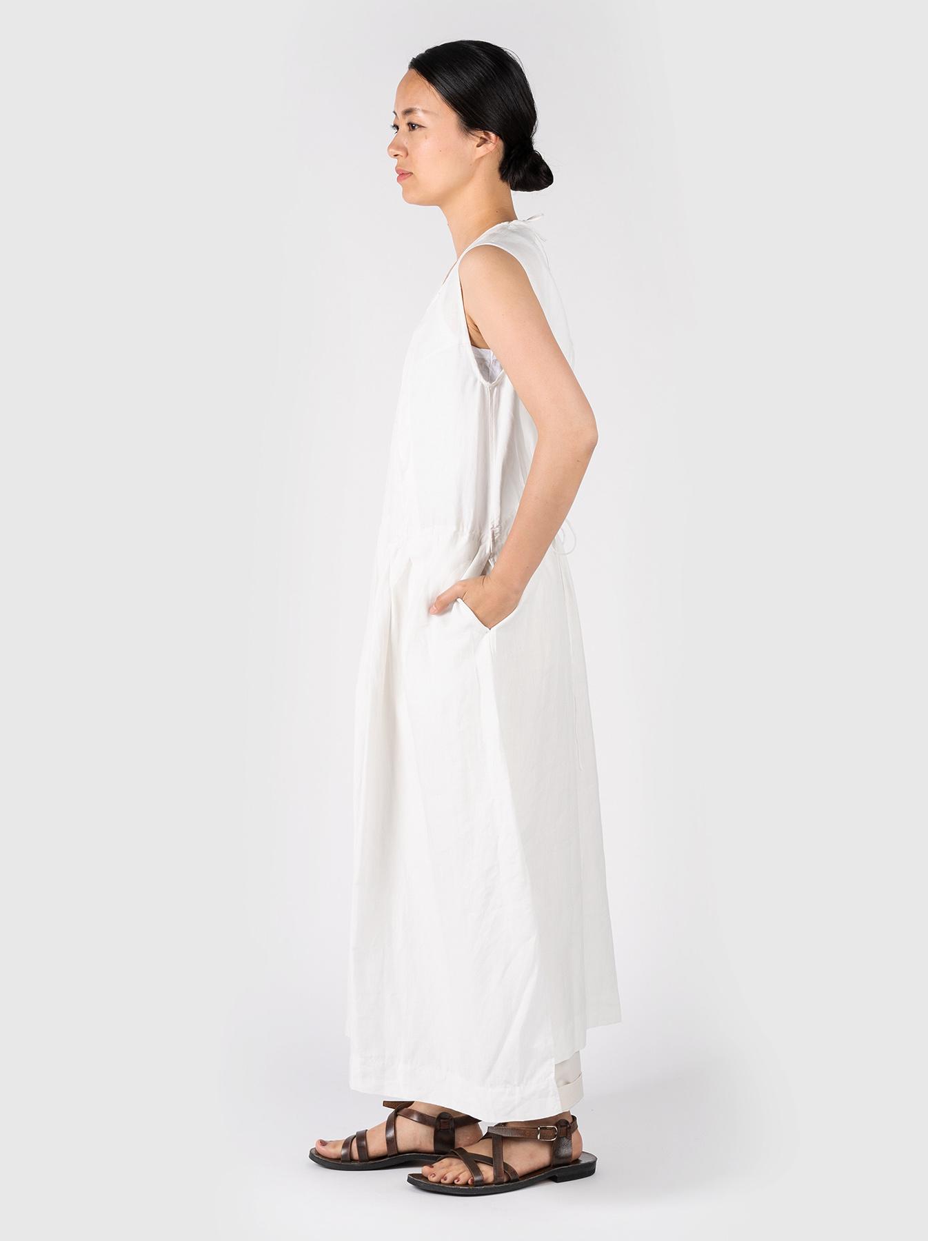 WH Linen Sleeveless Tuck Dress-3