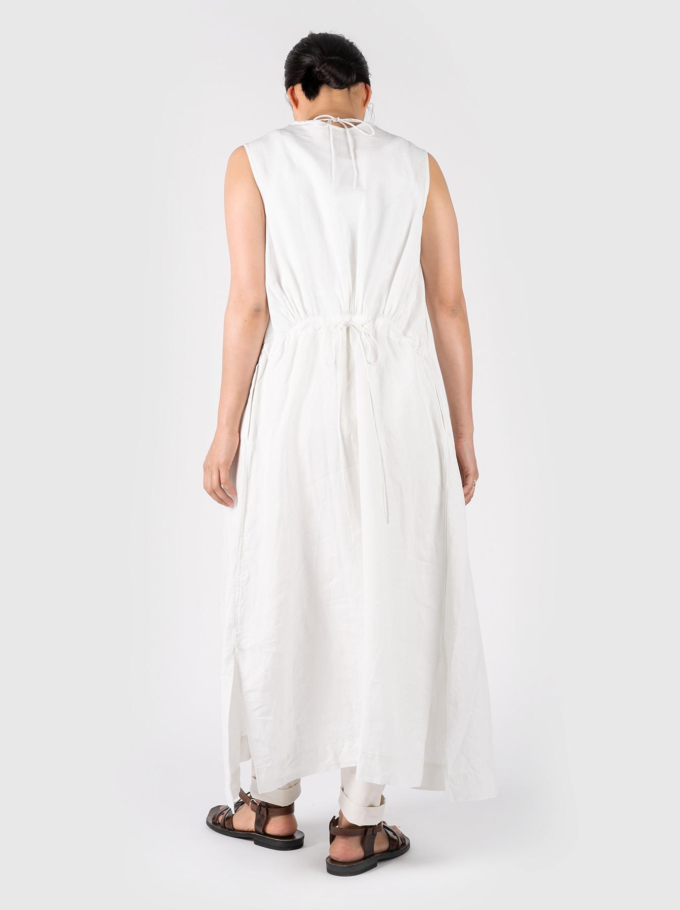 WH Linen Sleeveless Tuck Dress-4