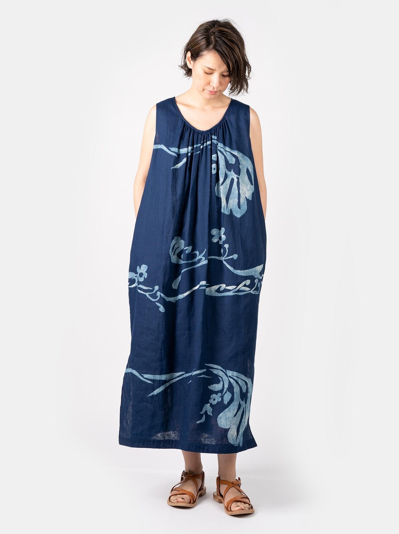 WH Indigo W-cloth Umiiloha Dress-2