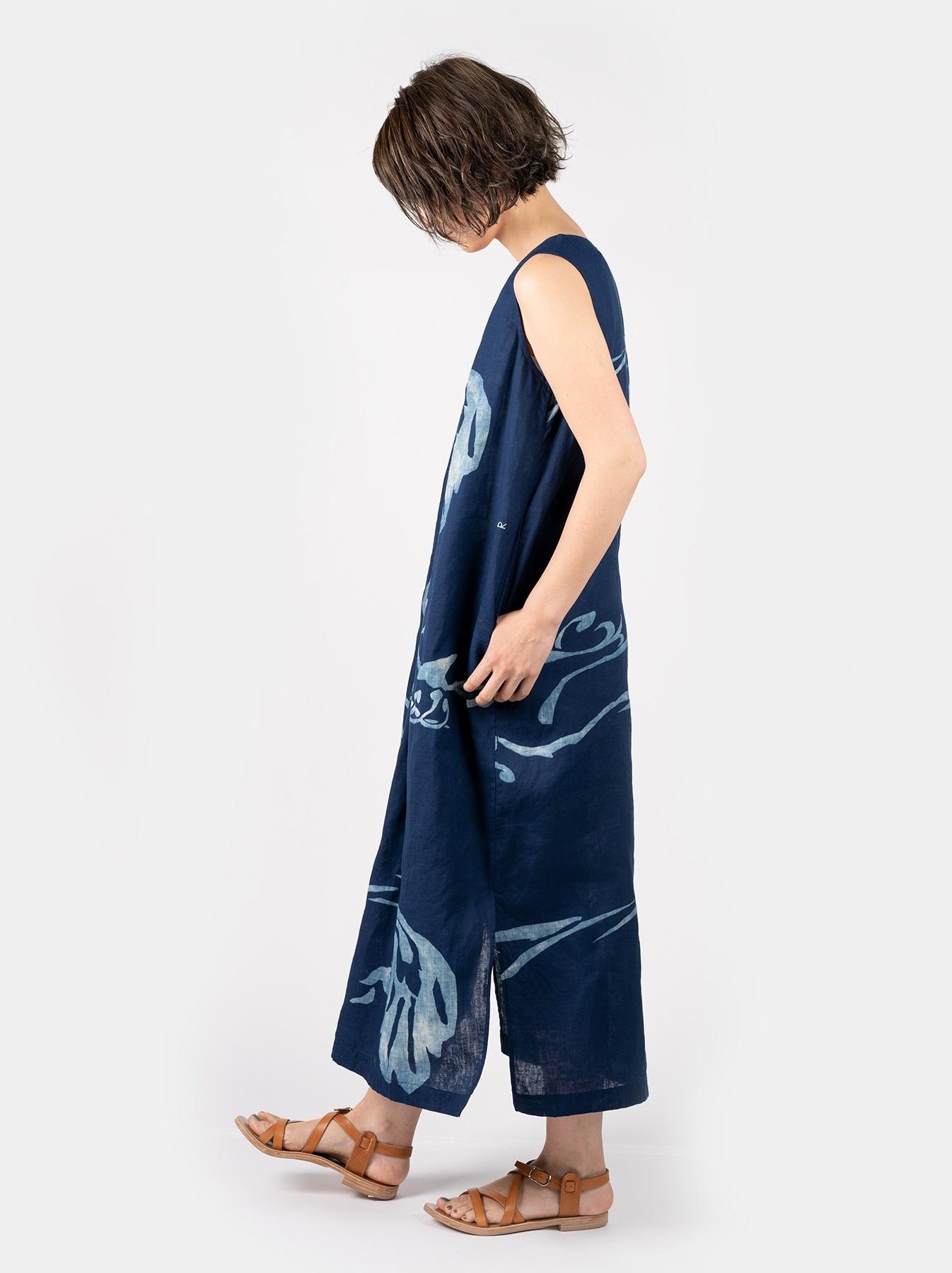 WH Indigo W-cloth Umiiloha Dress-3