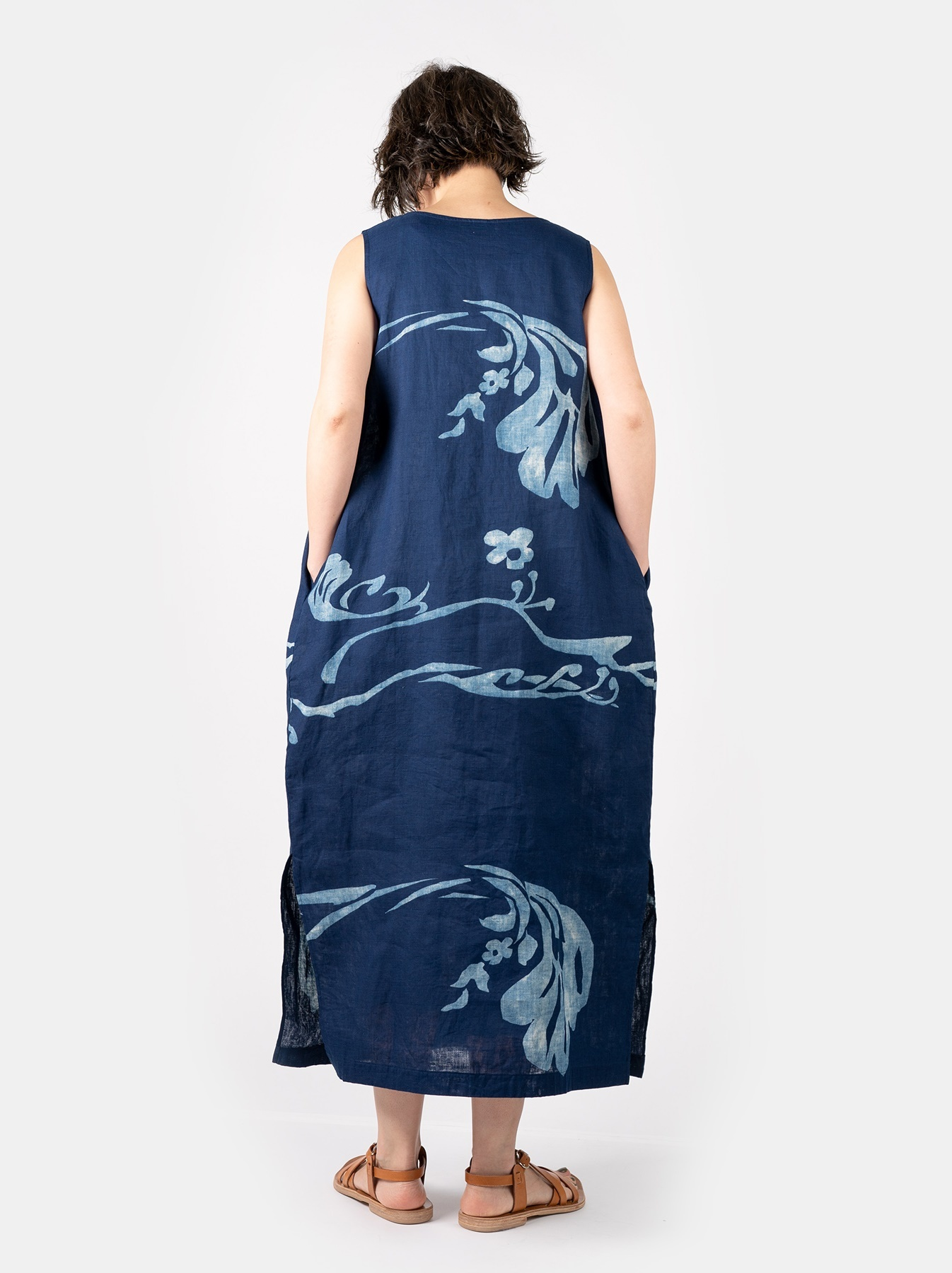 WH Indigo W-cloth Umiiloha Dress-4