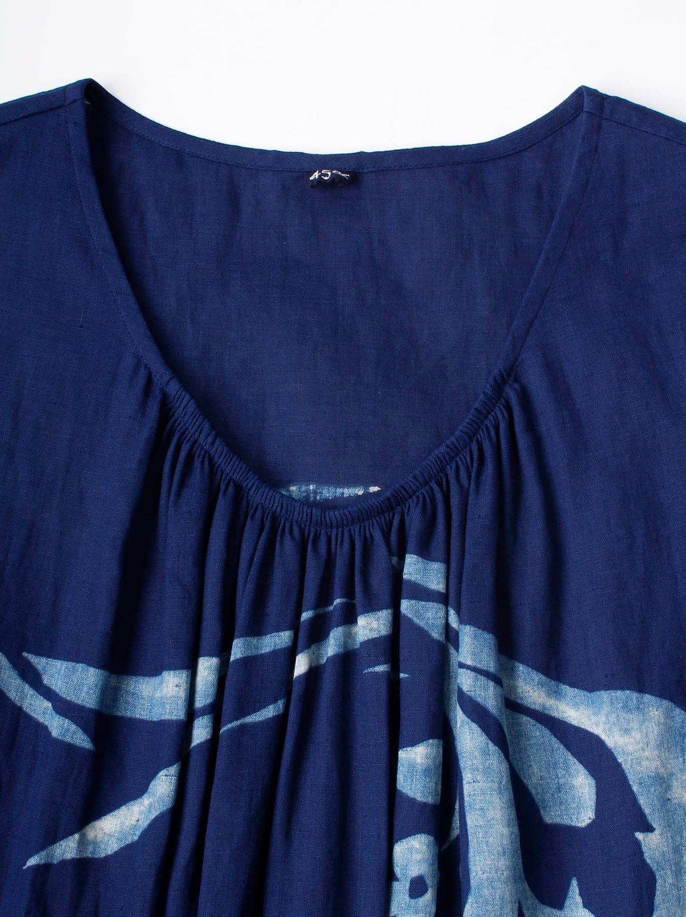 WH Indigo W-cloth Umiiloha Dress-5