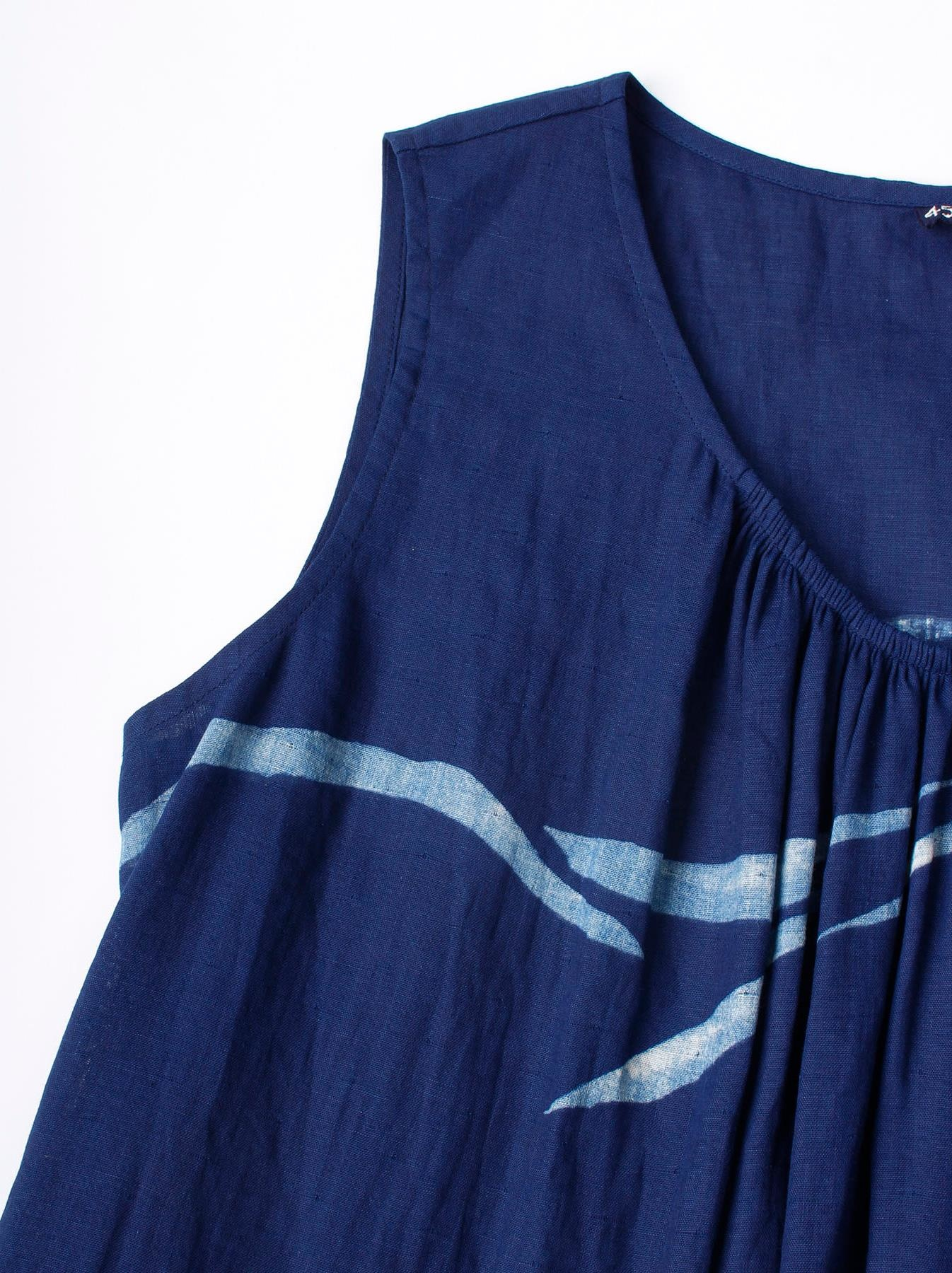 WH Indigo W-cloth Umiiloha Dress-6