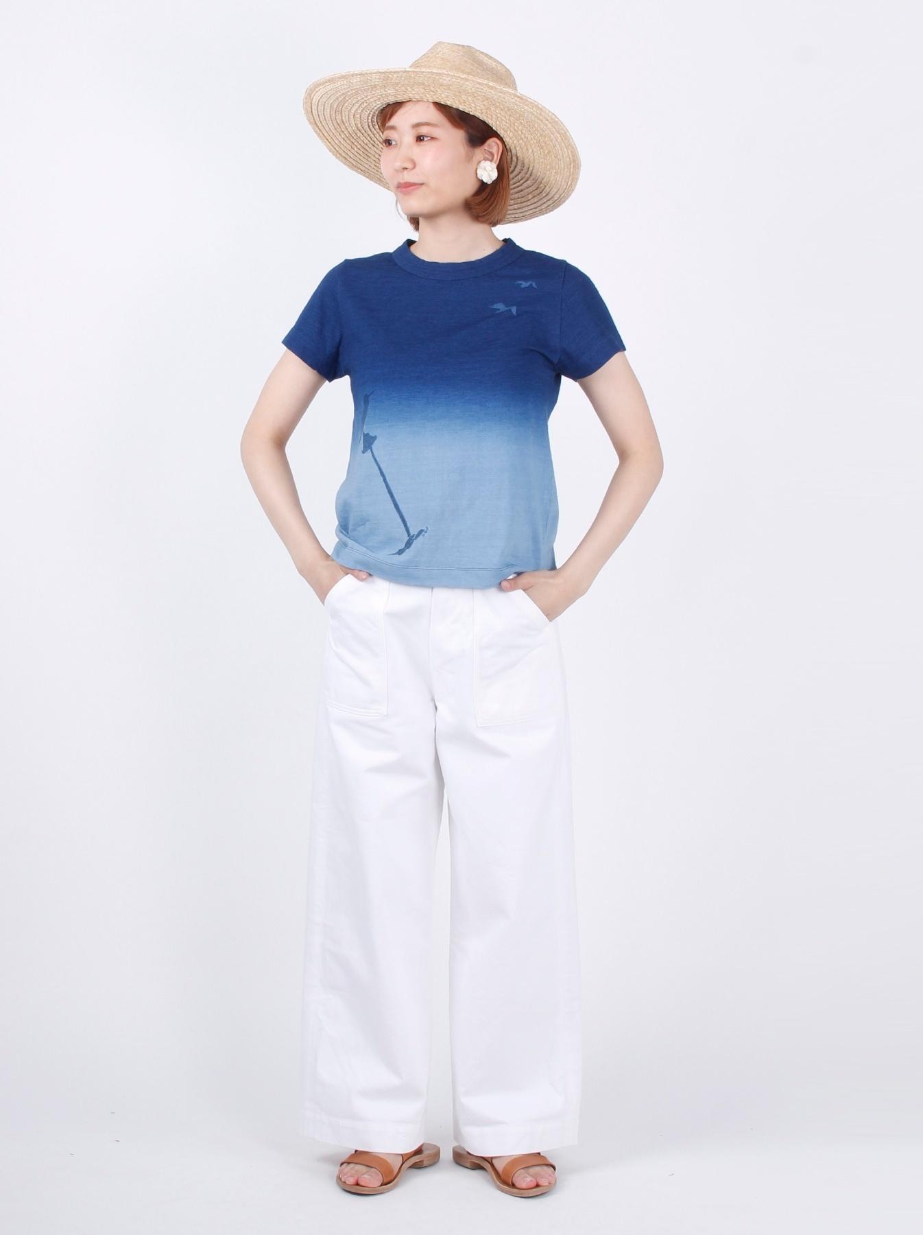 WH Indigo Ukiyo-e Break 45 Star T-shirt (Womens)-2