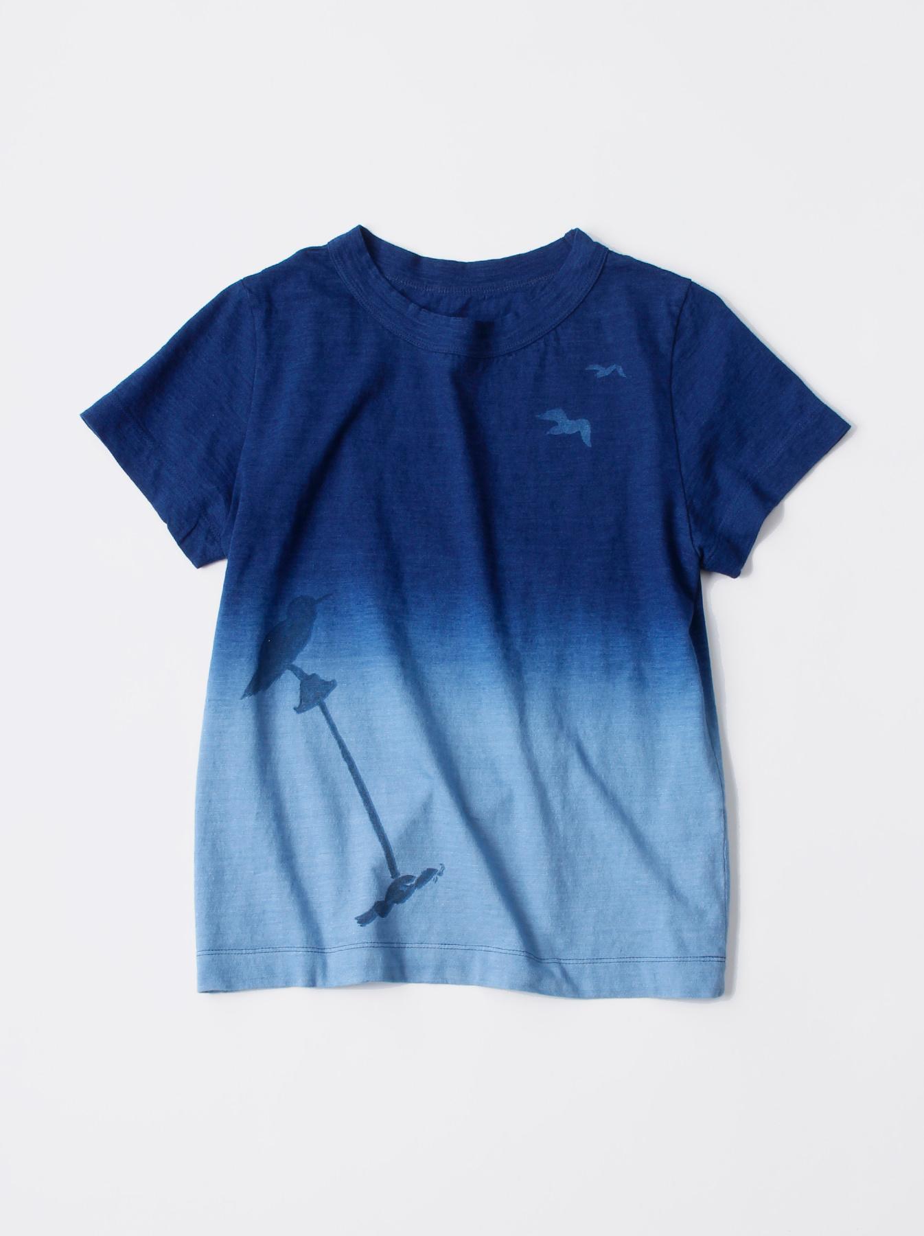 WH Indigo Ukiyo-e Break 45 Star T-shirt (Womens)-1