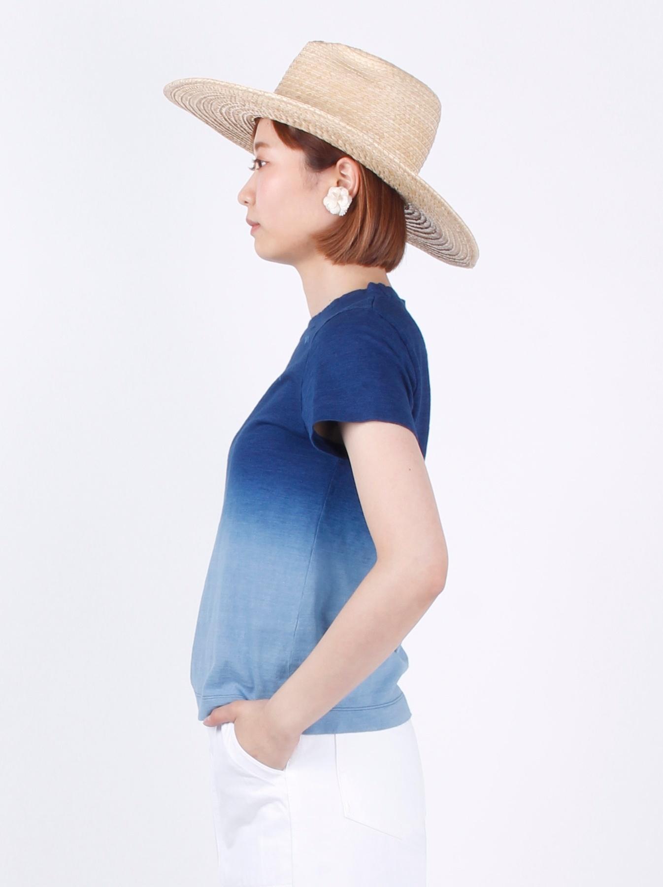 WH Indigo Ukiyo-e Break 45 Star T-shirt (Womens)-4