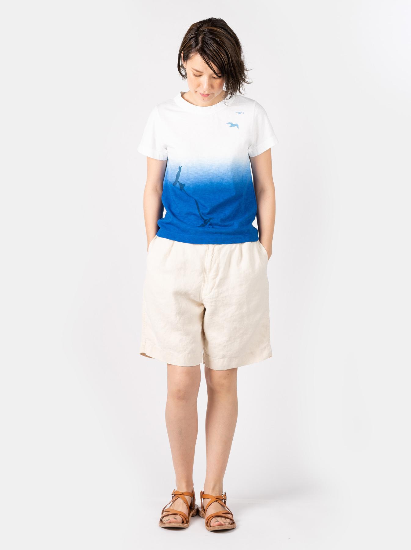 WH Ukiyo-e Break 45 Star T-shirt (Womens)-2
