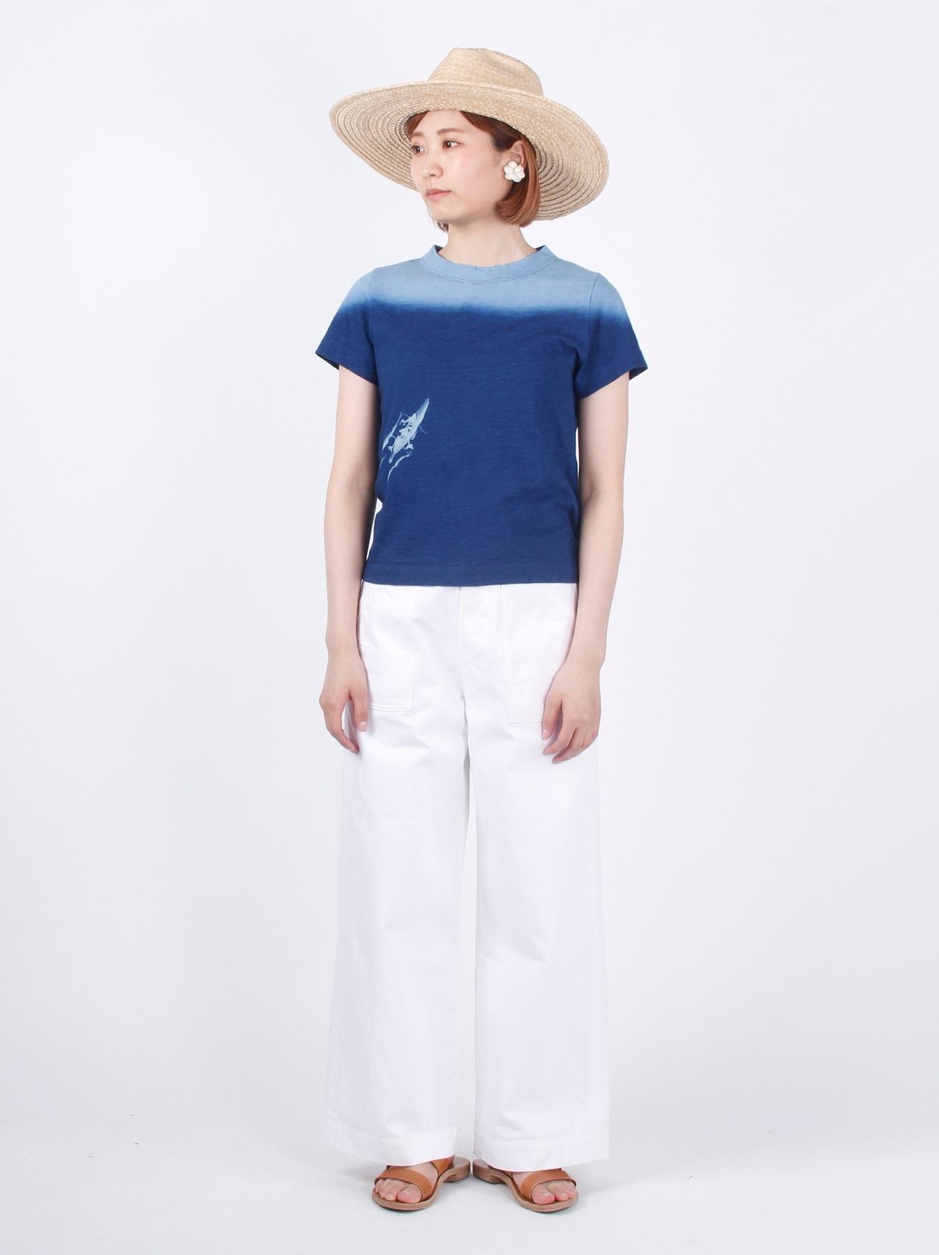 WH Indigo Ukiyo-e Kayak 45 Star T-shirt (Womens)-2