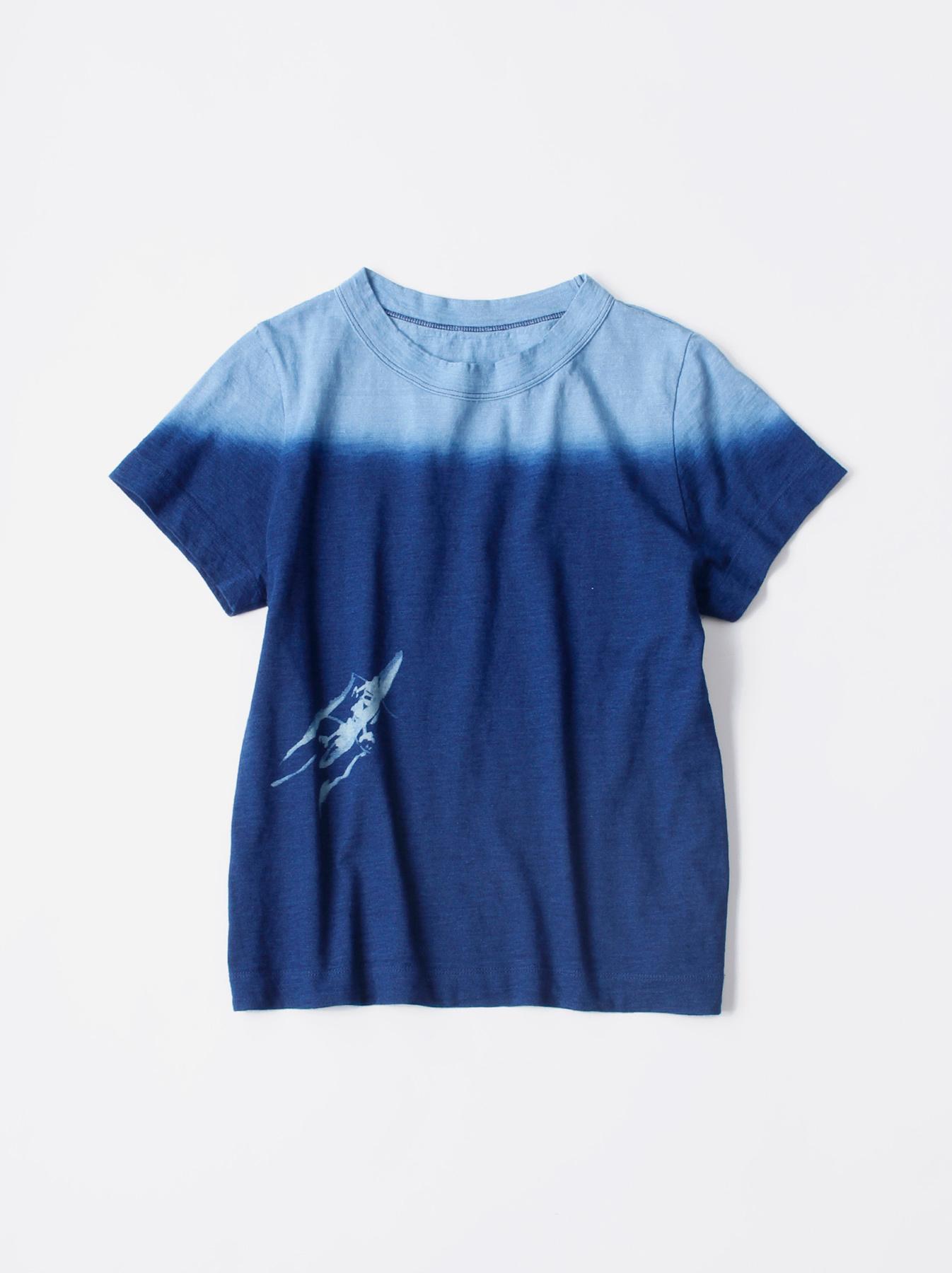 WH Indigo Ukiyo-e Kayak 45 Star T-shirt (Womens)-1
